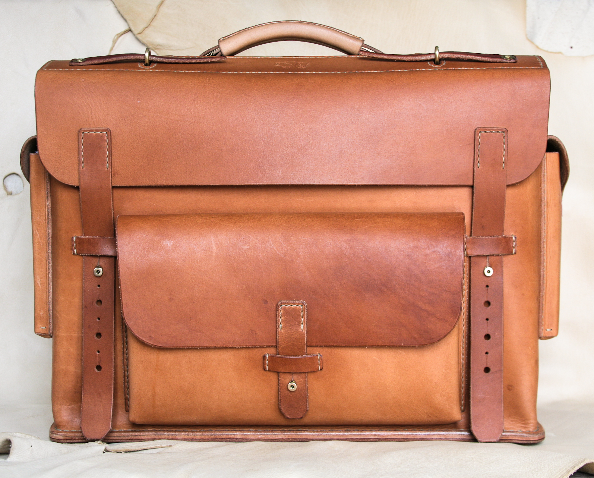 """And finally, here it is in completion...The WLC """"Mil-spec"""" Briefcase. At this point, available through special order only, and very limited. Contact if interested."""