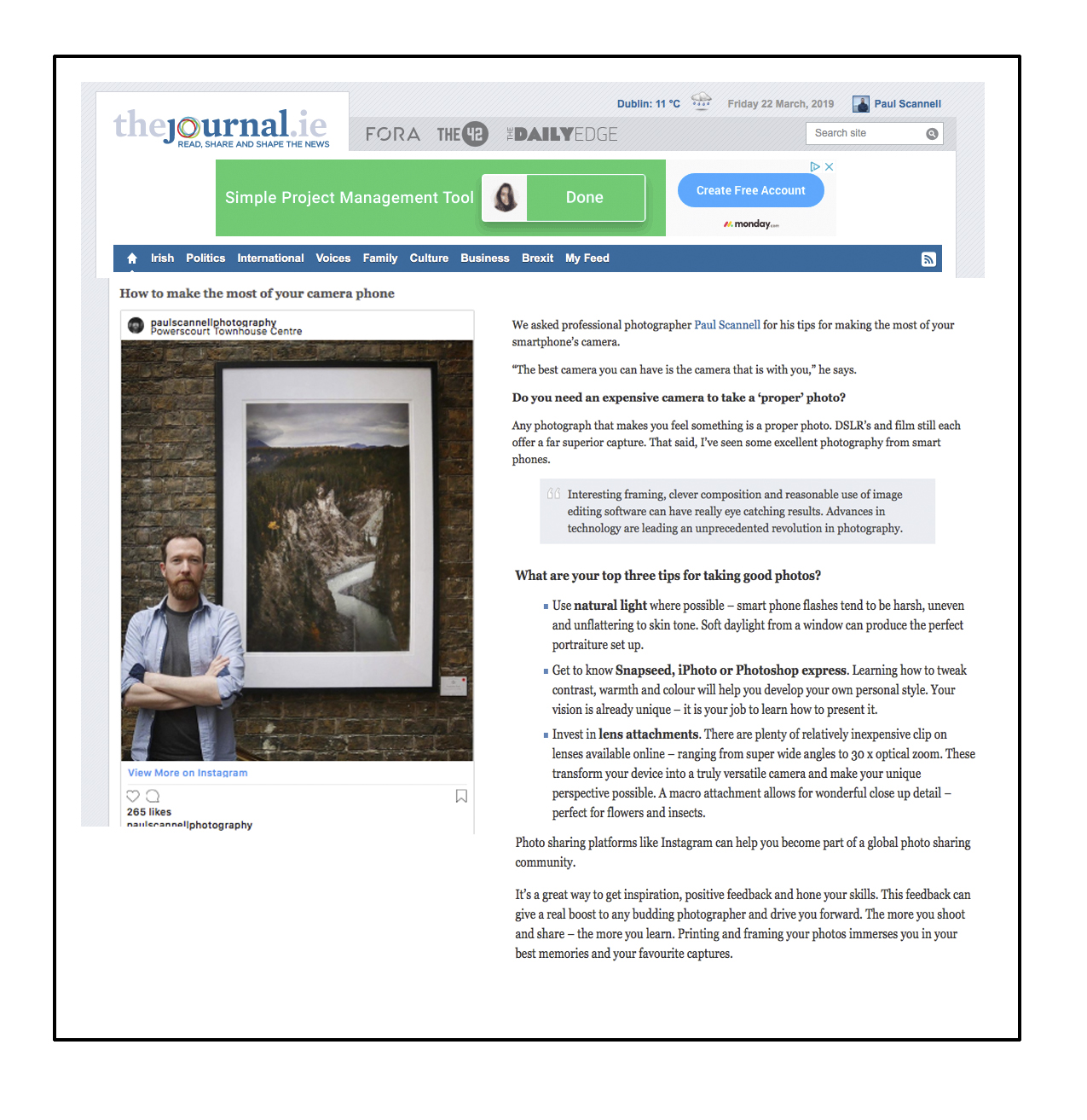 Journal.ie feature: https://www.thejournal.ie/live-a-better-life-using-your-camera-3337144-May2017/