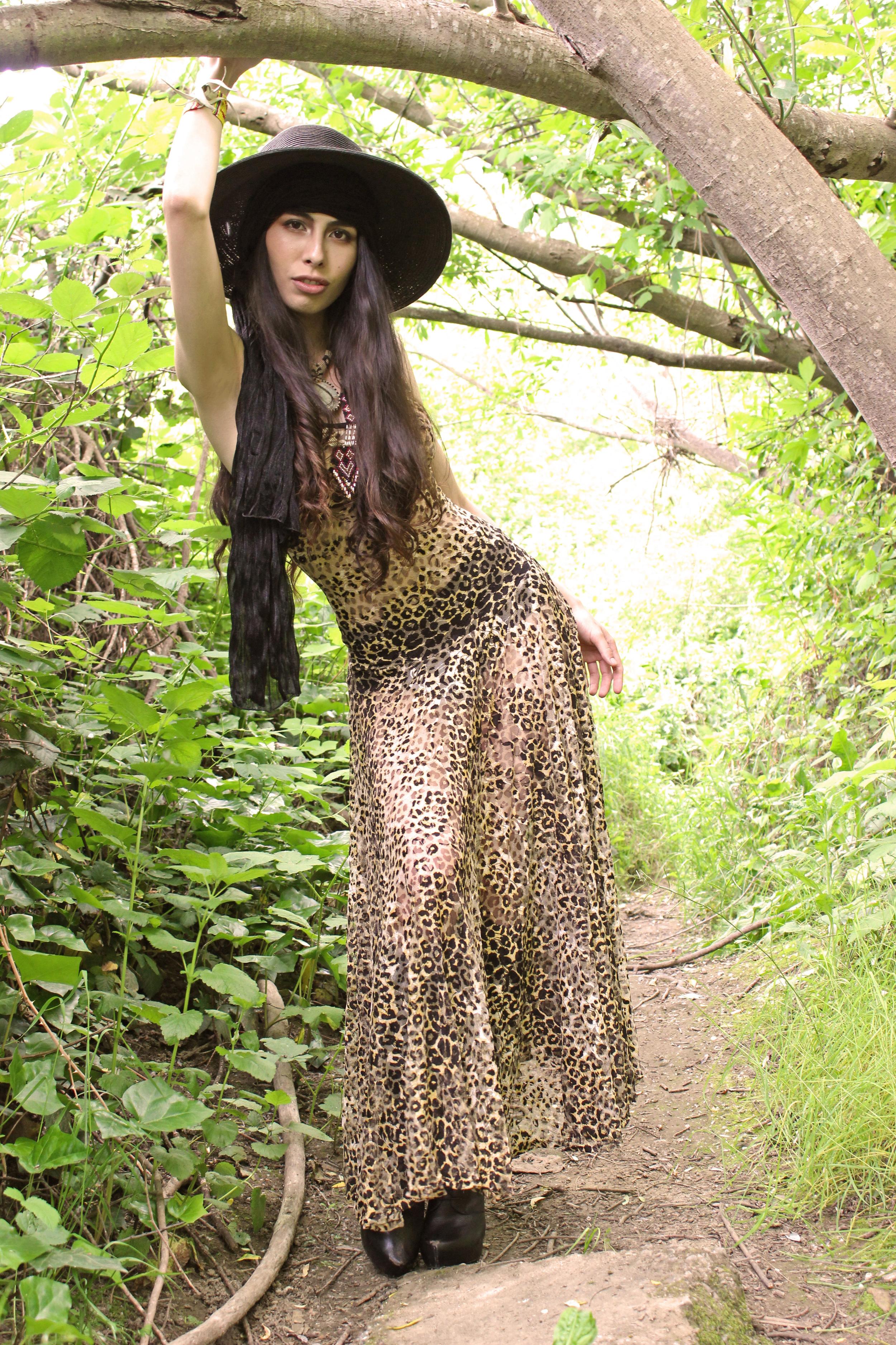 Muheeka Princess Dress in Leopard Lace