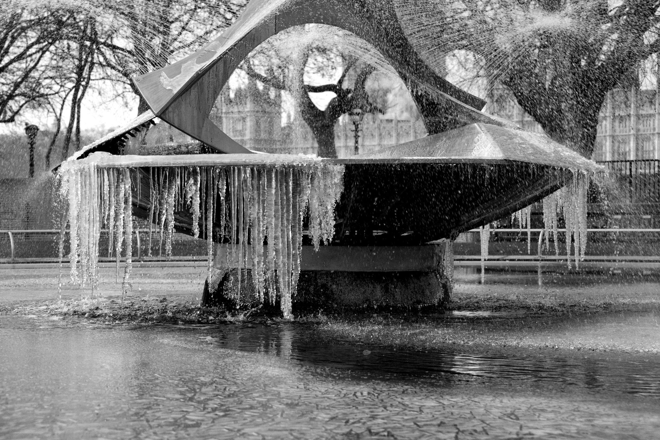 The Frozen Fountain – London Embankment
