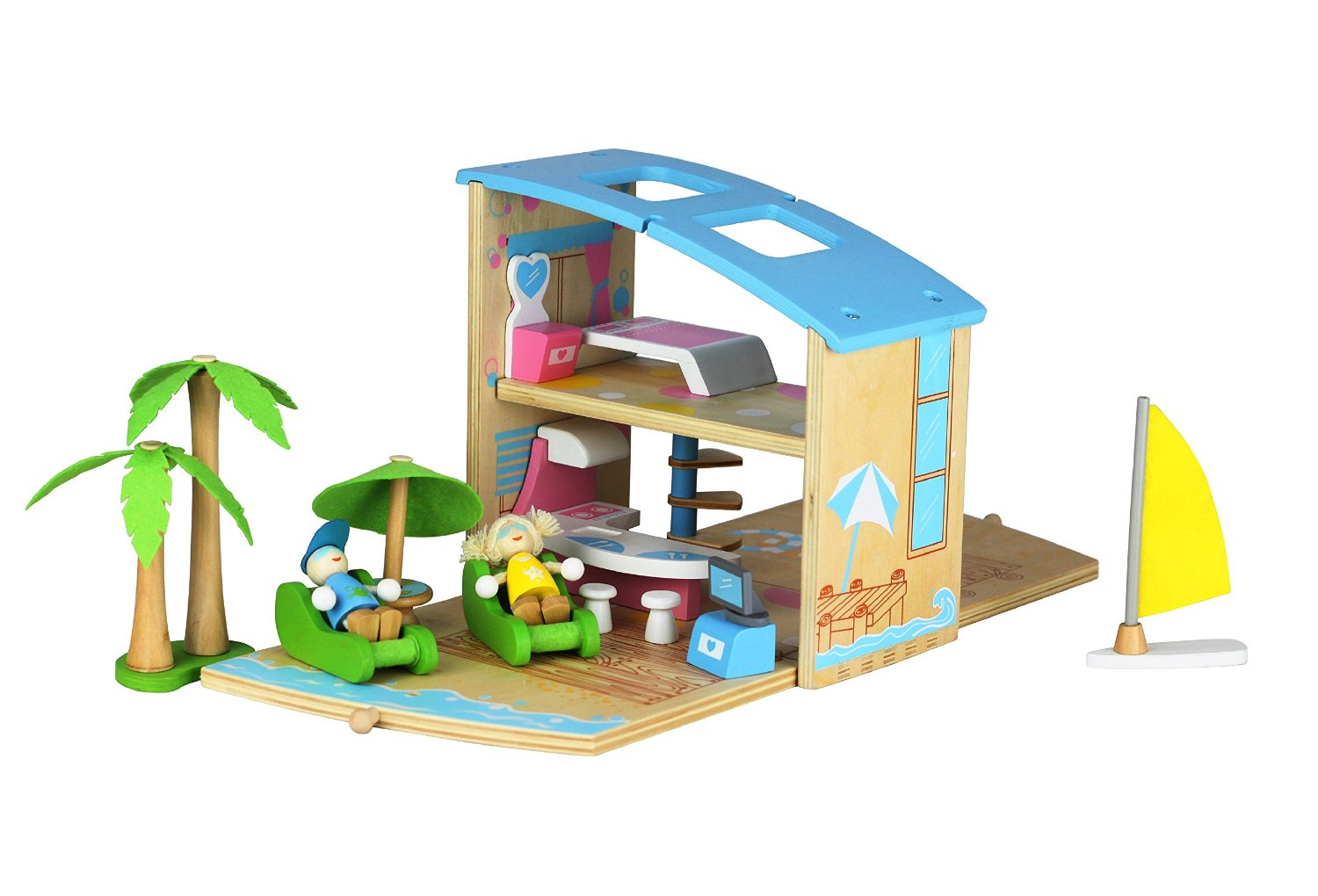 Casino Woodplay Beach Villa Wooden Toy Review