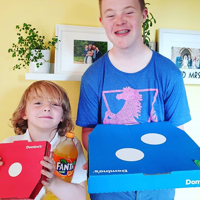 2x amazing end of year reports mean PIZZA NIGHT!!! Plus Robin smashed his SATs like a beast so it was his choice of cuisine! 😂😍 Super proud of my little and large beans!!! Bring on Y3 and Sixth Form!!!! . . . #proudmum #downsyndrome #rockkids #coolkids #uk #ig_kids #cutekids #happykids #love #kids #mykids #happy #kidsarethefuture #instakids #ks1 #ks4 #schoolreports #childhood #family #pbloggers #brothers #specialneeds #siblings