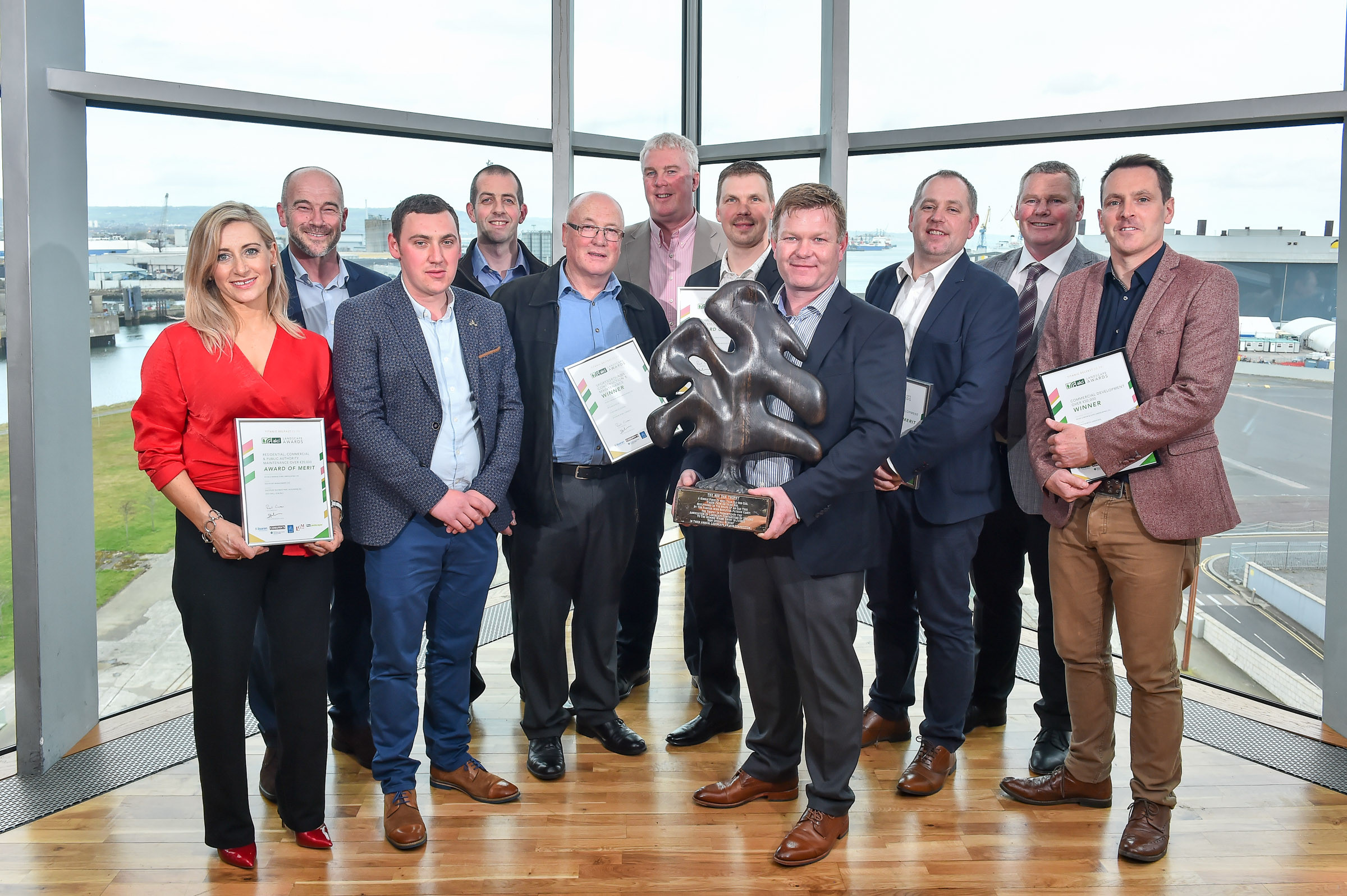 Peter O'Brien & Sons Landscaping team, Winner Landscape Contractor of the Year, Commercial Development over €50,000 & Sportsgrounds Construction & Maintenance categories (2).JPG