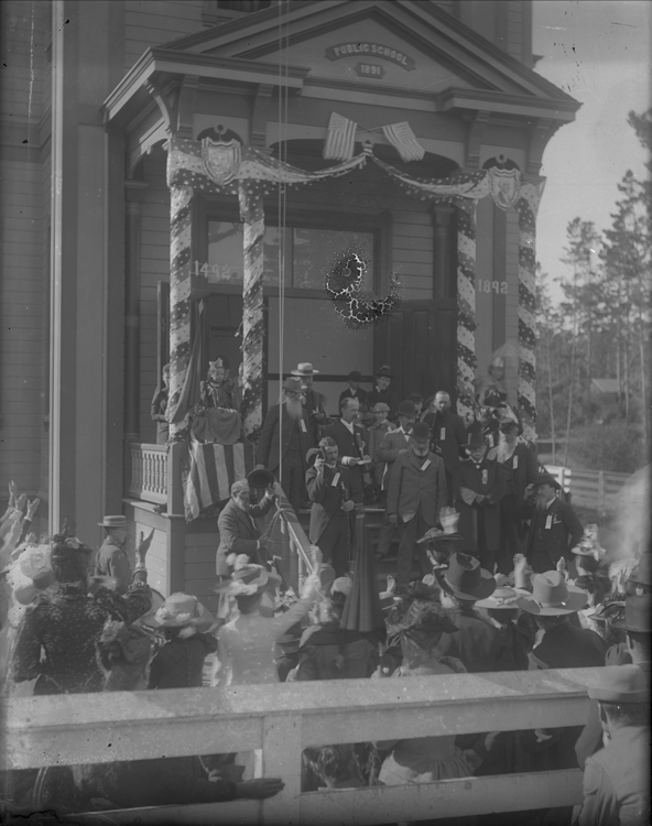 Public School on Pine Avenue.