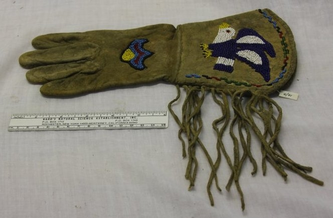 Beaded Choctaw glove