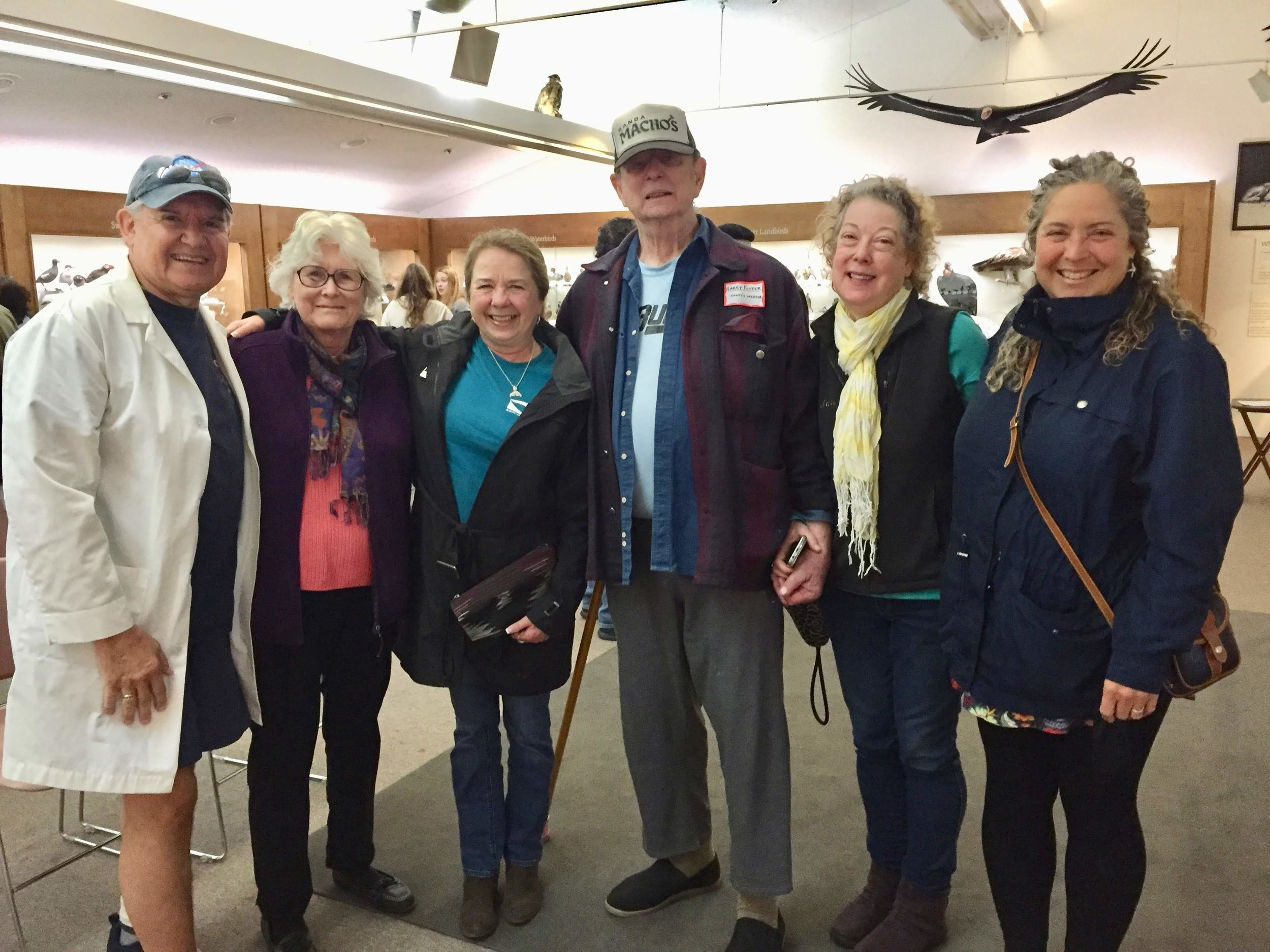 Current and former Monterey Bay Chapter members of the  American Cetacean Society  shared stories, caught up and enjoyed time with the guests of honor.   (Standing left to right):  Milos Radakovich, Sheila Baldridge, Diane Glim, Larry and Mary Foster, and Diana L Guerrero (aka ARKlady.)