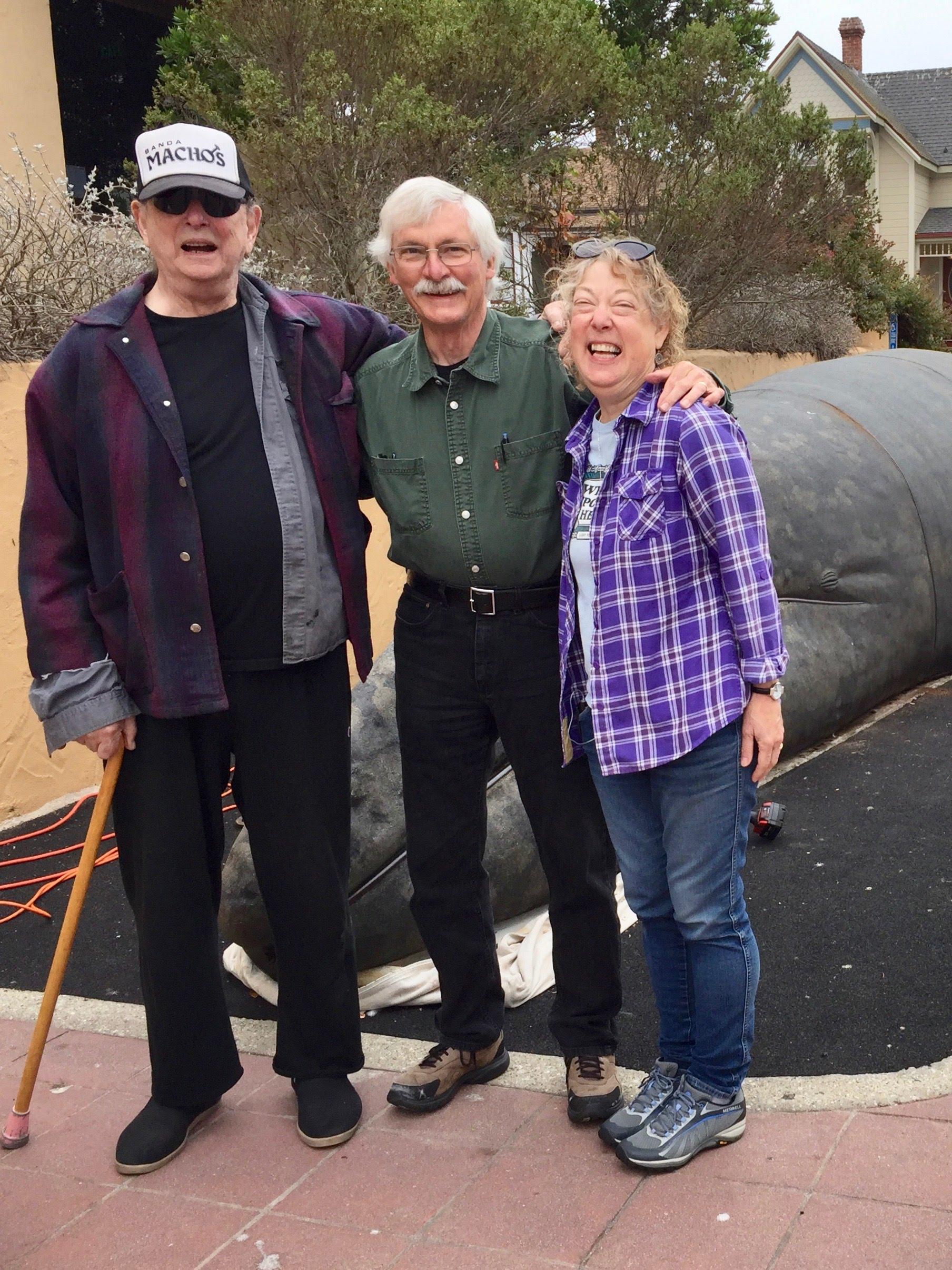 After months of dialogue there was a joyful anticipation for the project's completion. Mary and Larry Foster poise here with Mayor Pro Tempore Robert Huitt who provided leadership and support.