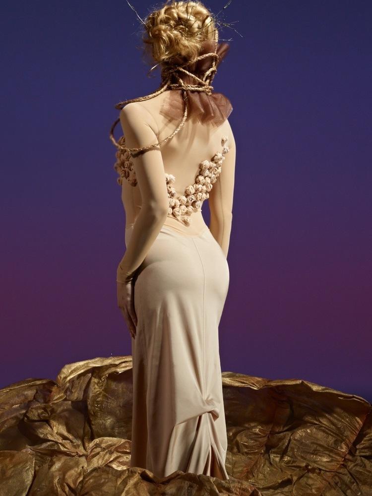 "S-Curve Apparel & Design ""Quintessence Collection"", 2013. Model: Erica Felsch. Photo: David DeSilva"