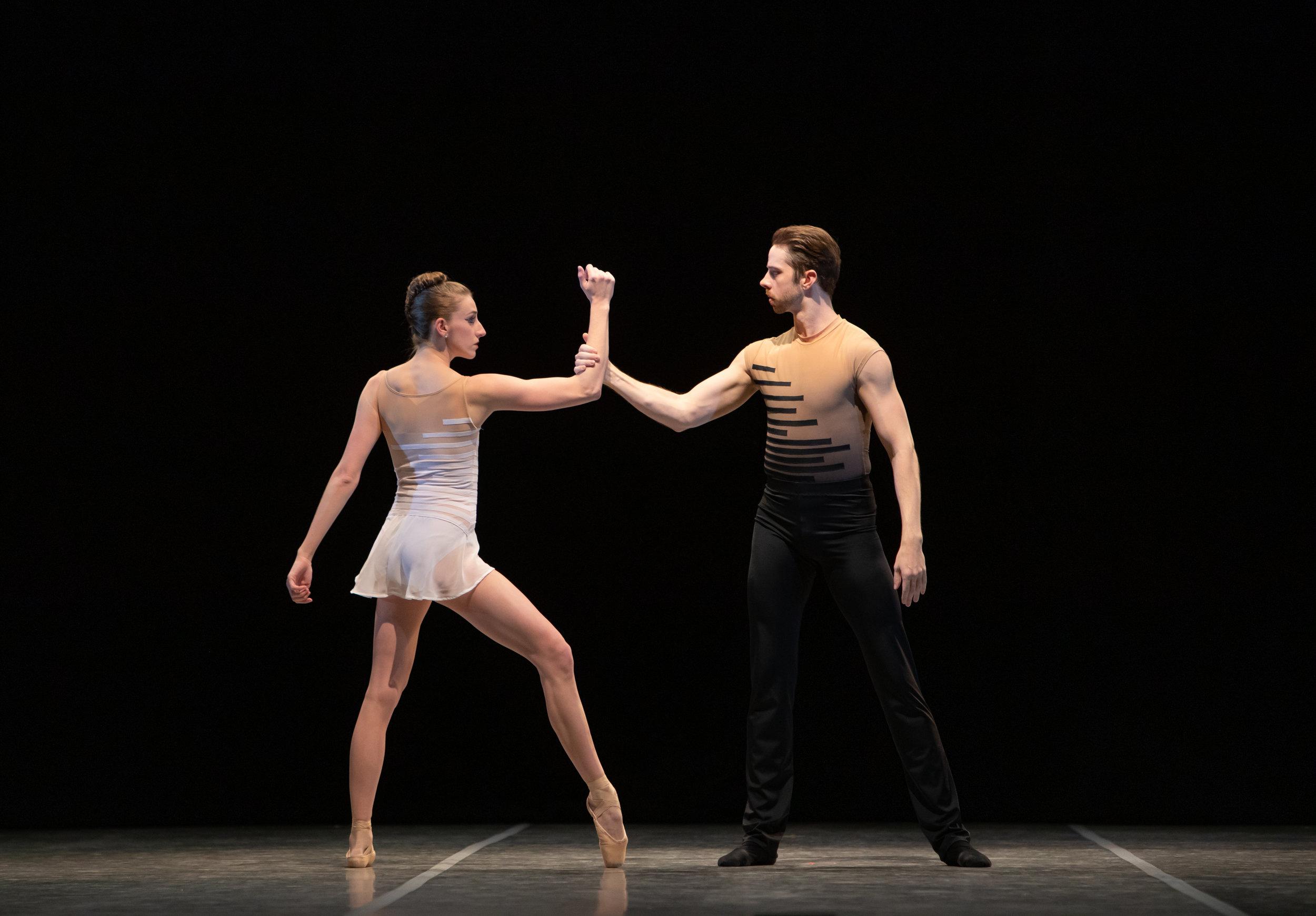 "Annabelle Lopez Ochoa's ""A Deux"".  Ballet Austin. Dancers: Elise Pekarek, Chris Swaim. Photo credit: Anne-Marie Bloodgood"