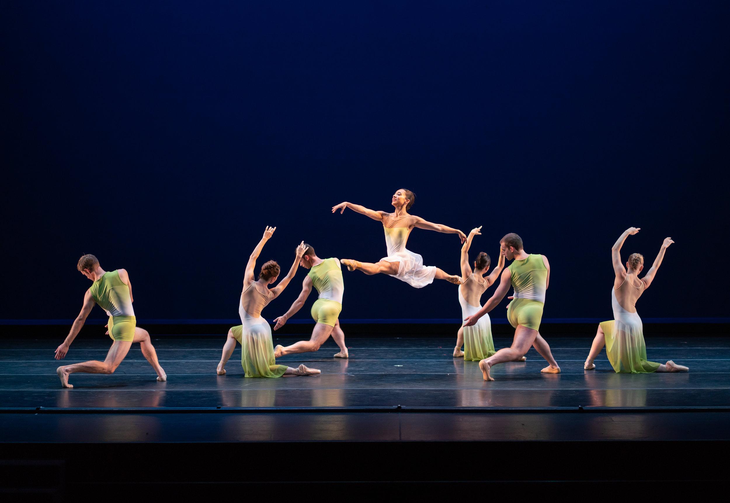 """Rex Wheeler's """"Sinfonietta"""". Smuin Ballet. Photo credit: Keith Sutter"""