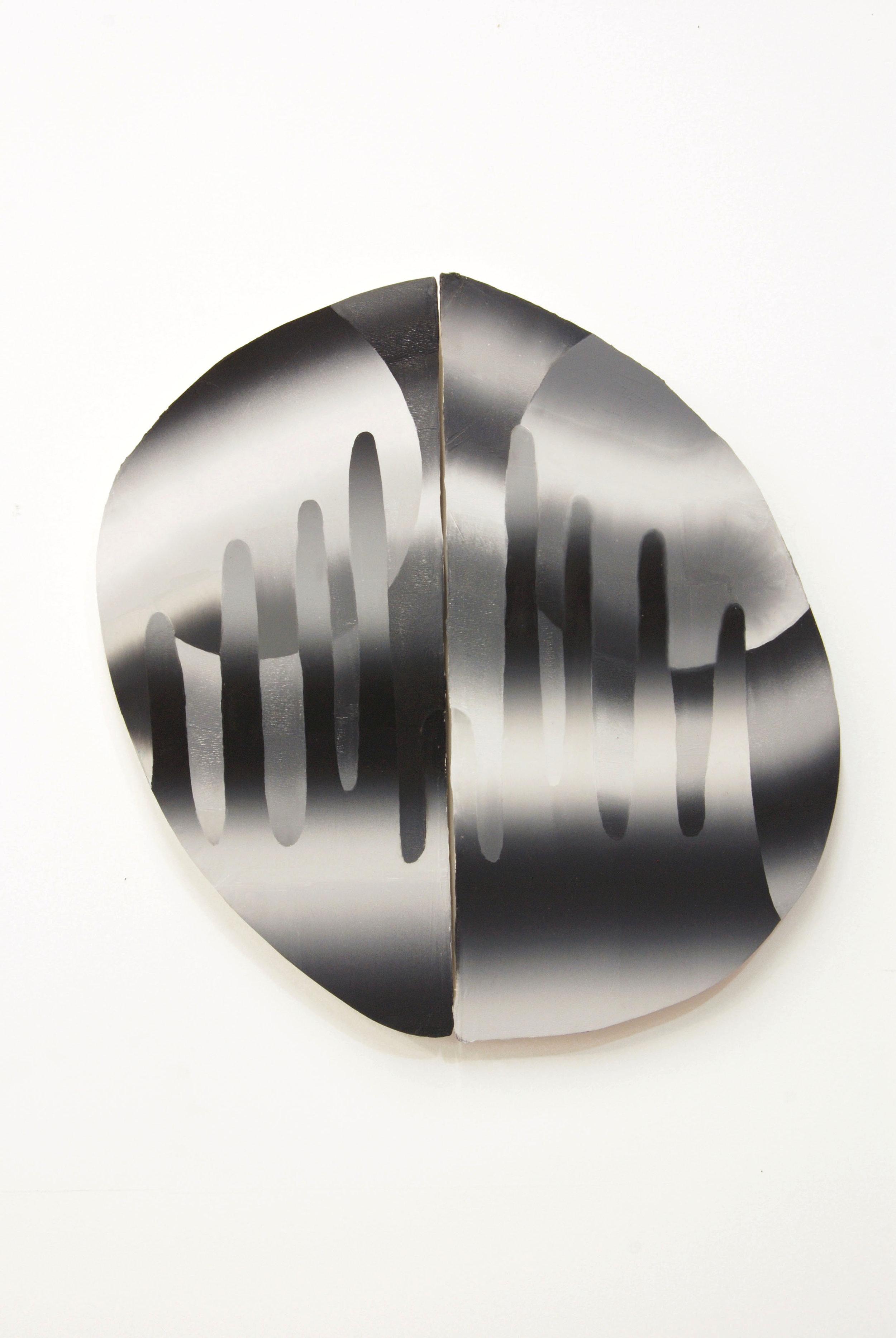 "Far Feelings, oil on shaped panels, 21"" x 21"", 2015."