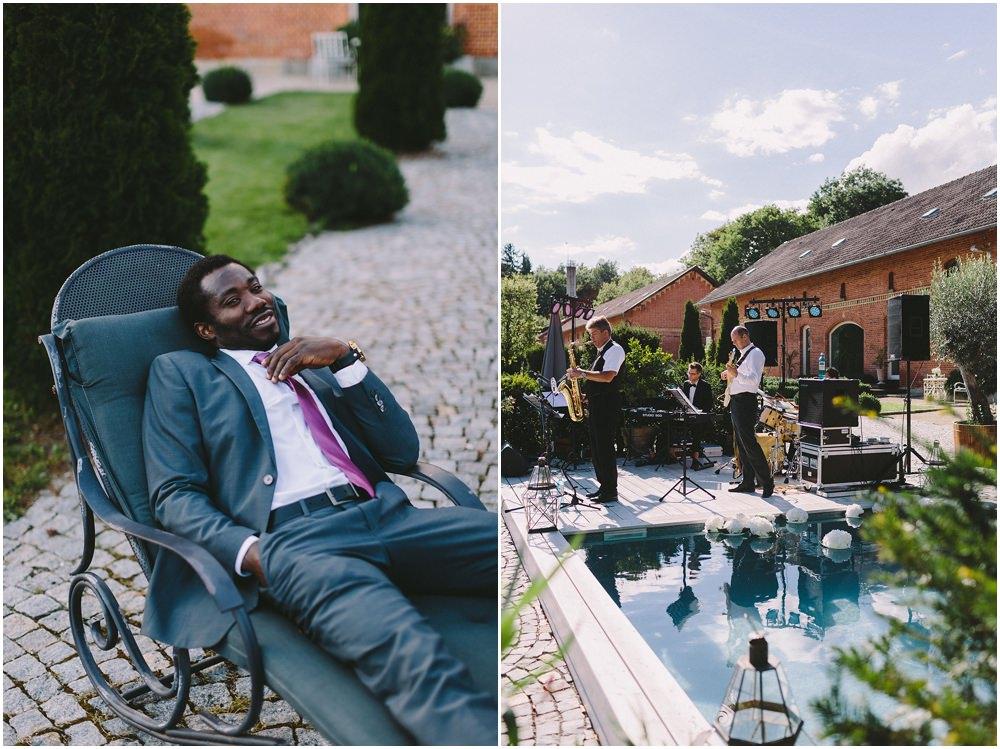 Hochzeitsgast und Band