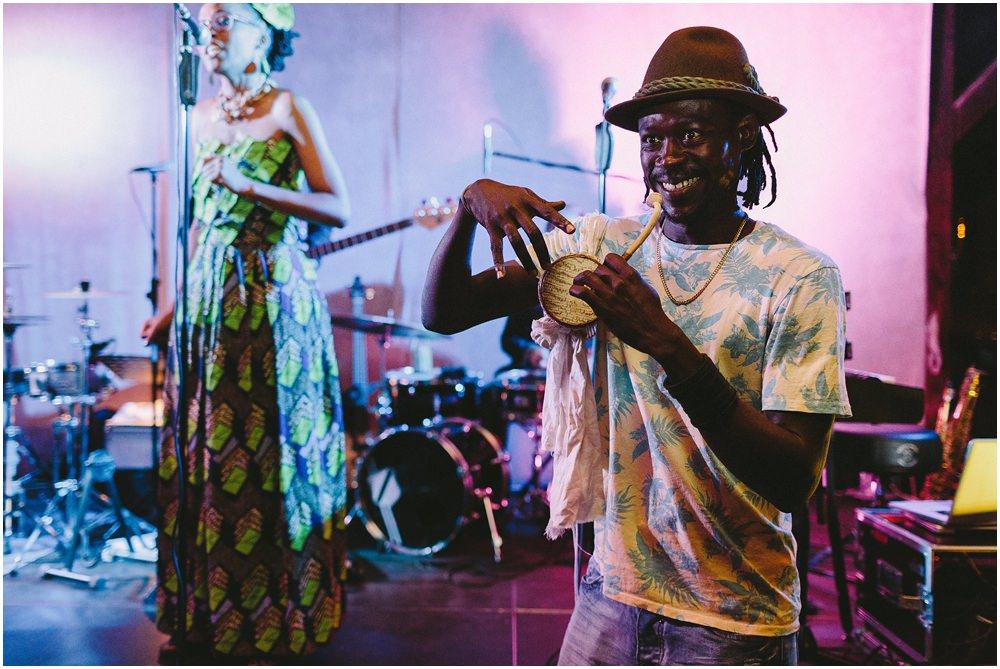 Afroamerikanische Band auf Hochzeit