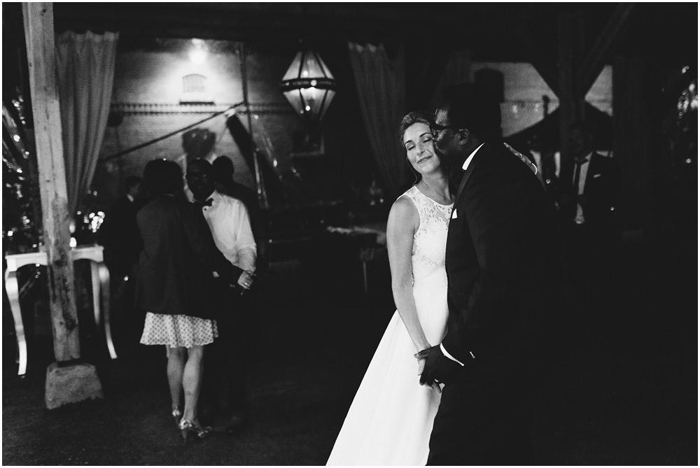 Kuss des Brautpaares
