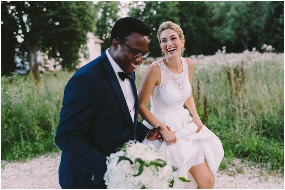 Braut und Bräutigam im Glück