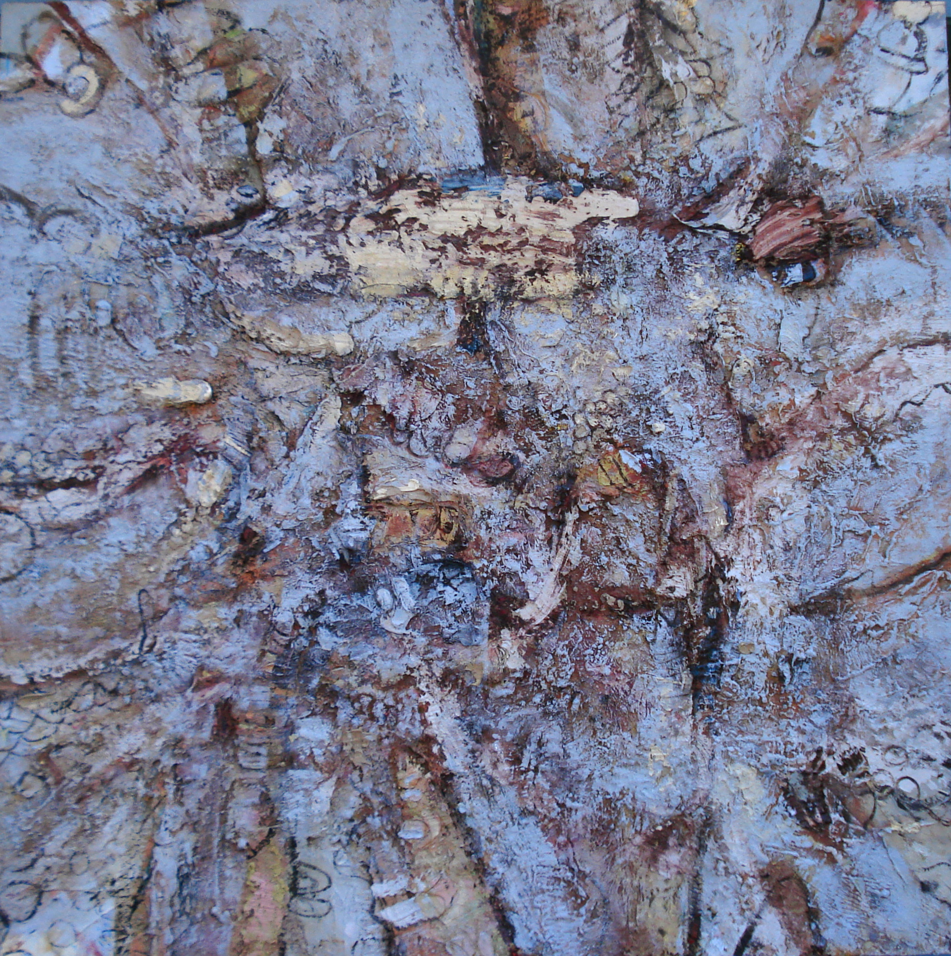 """Lost Language,  oil on canvas 73""""H X73""""W (2014)"""
