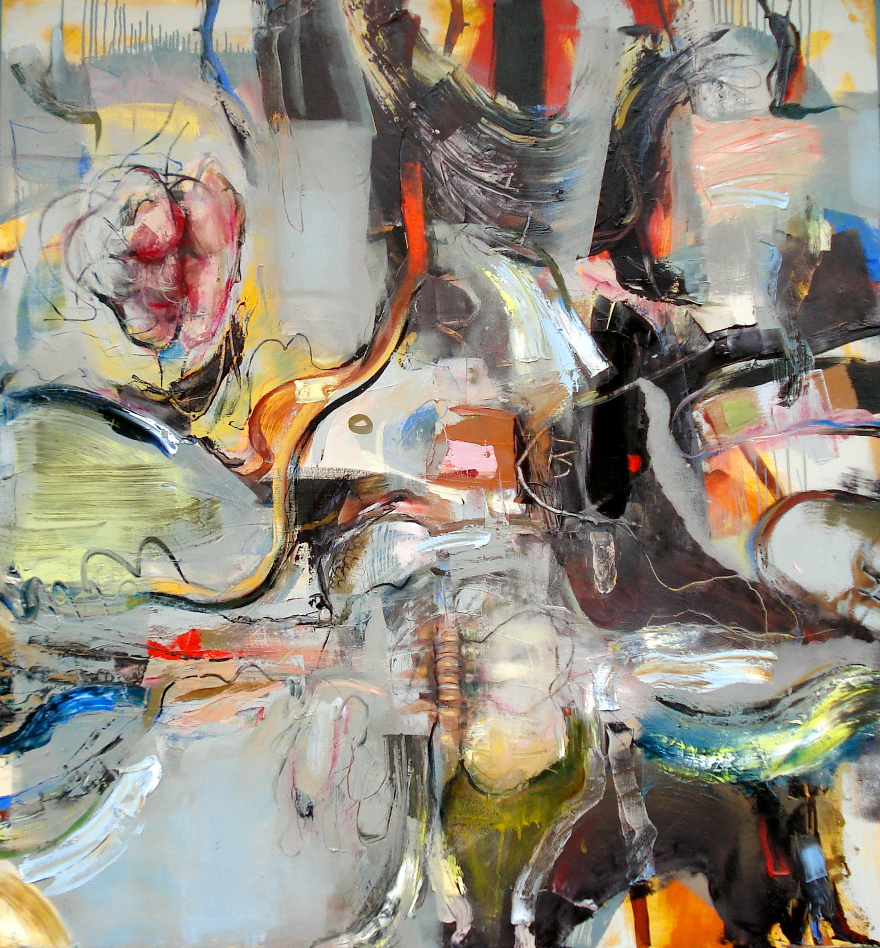 """You Were the Heart Doctor, But You Broke It  oil on canvas, 60""""H X 56"""" (2014)"""