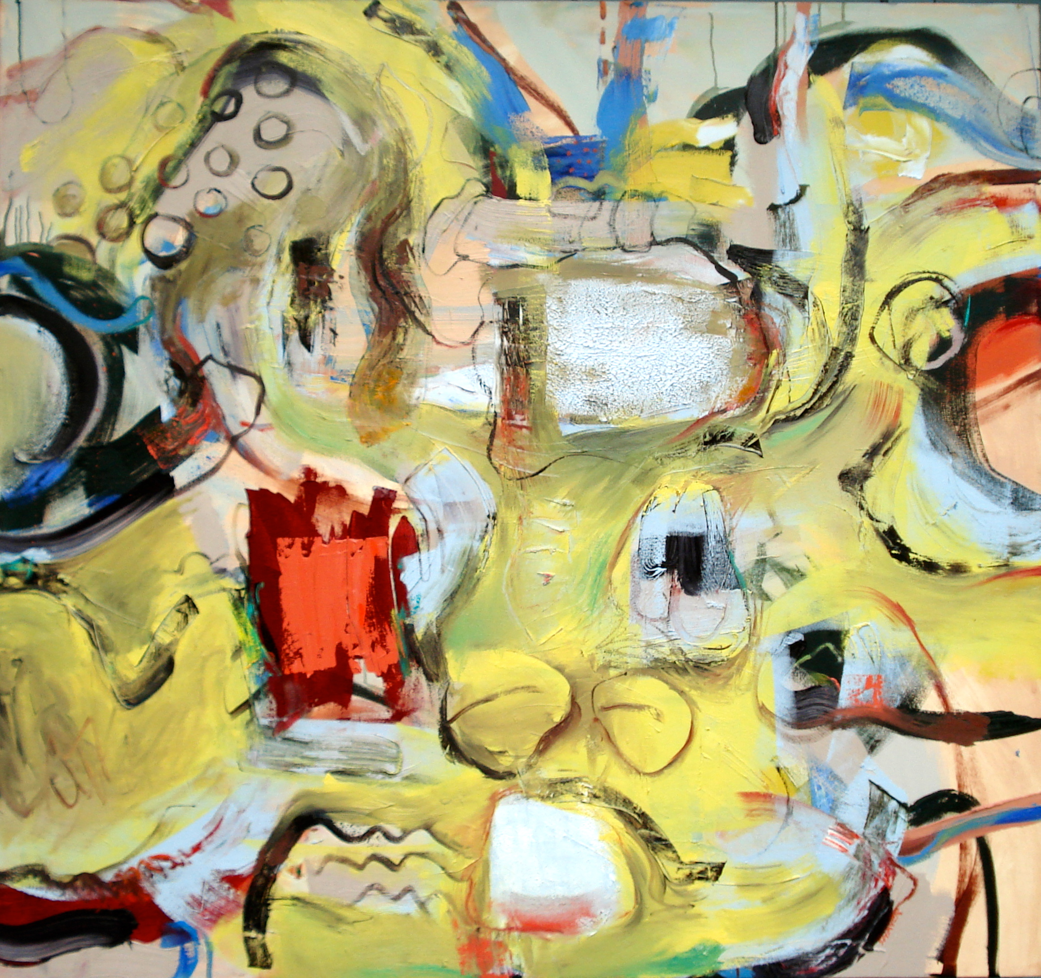 Contest,  oil on canvas 56'H X 60'W (2014)