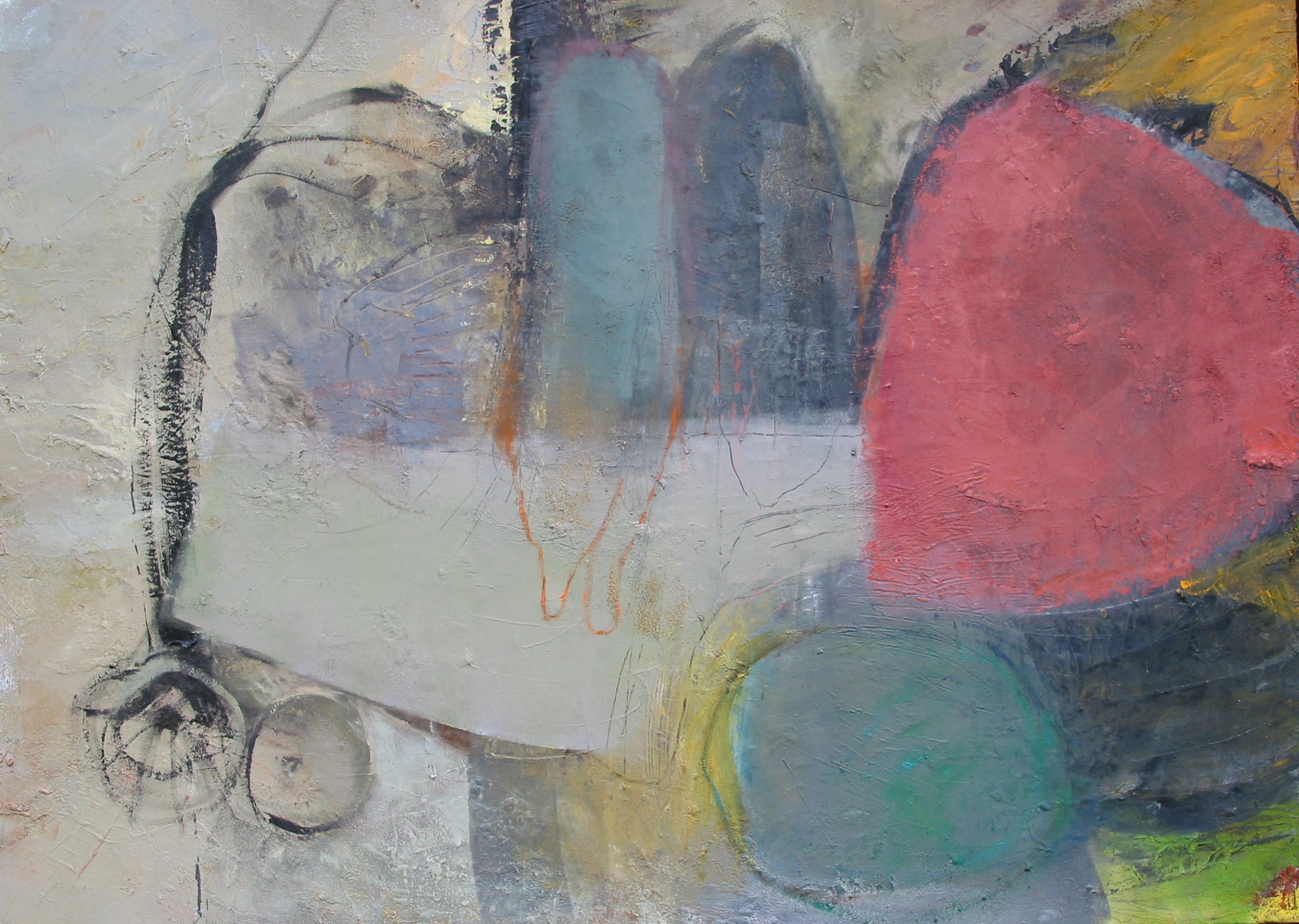 """Carriage , oil on canvas, 50""""H X 62""""H (2008)"""