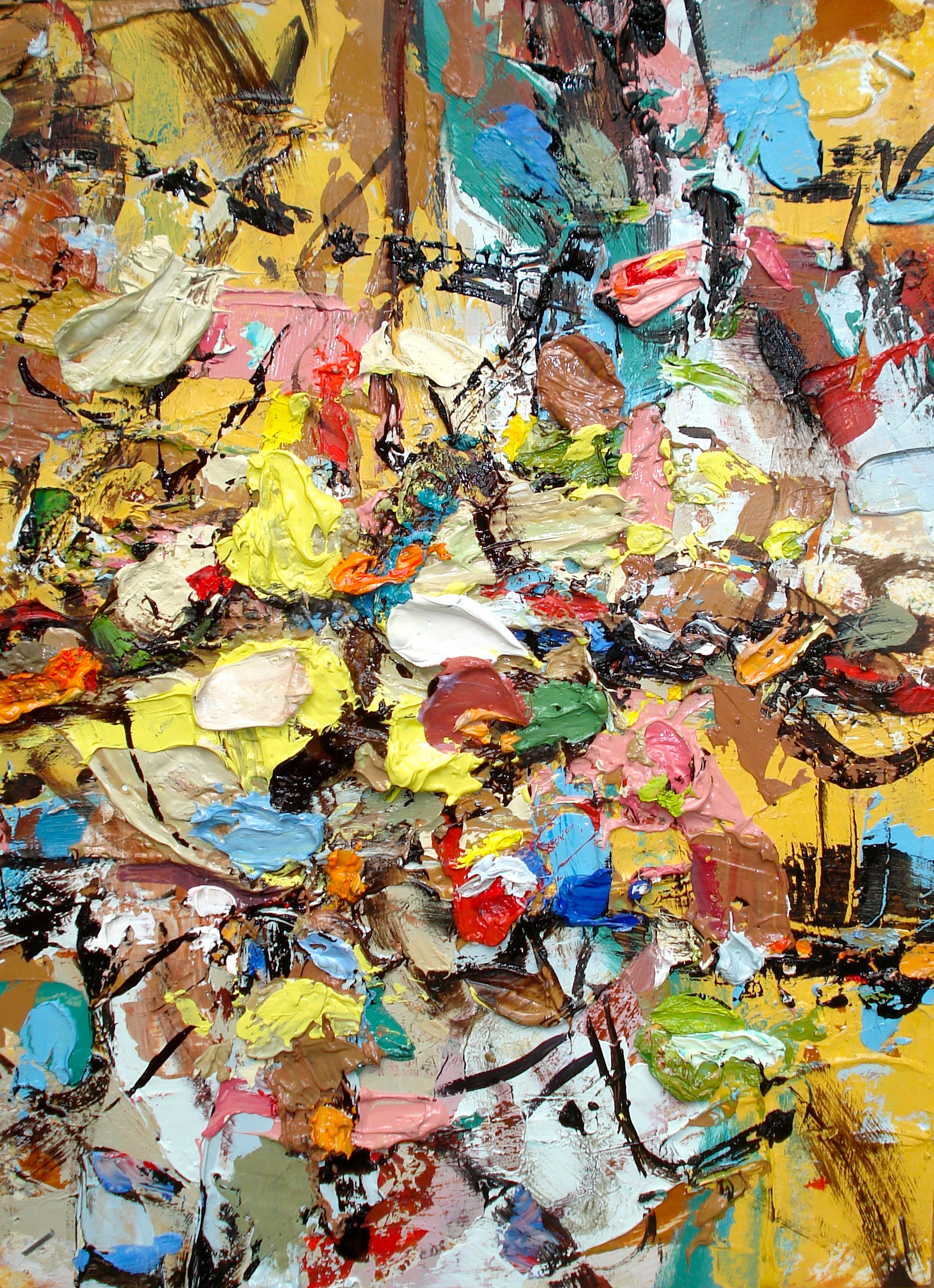 """Small Painting 23-A , oil on paper 12""""H X 9""""W (2013)"""