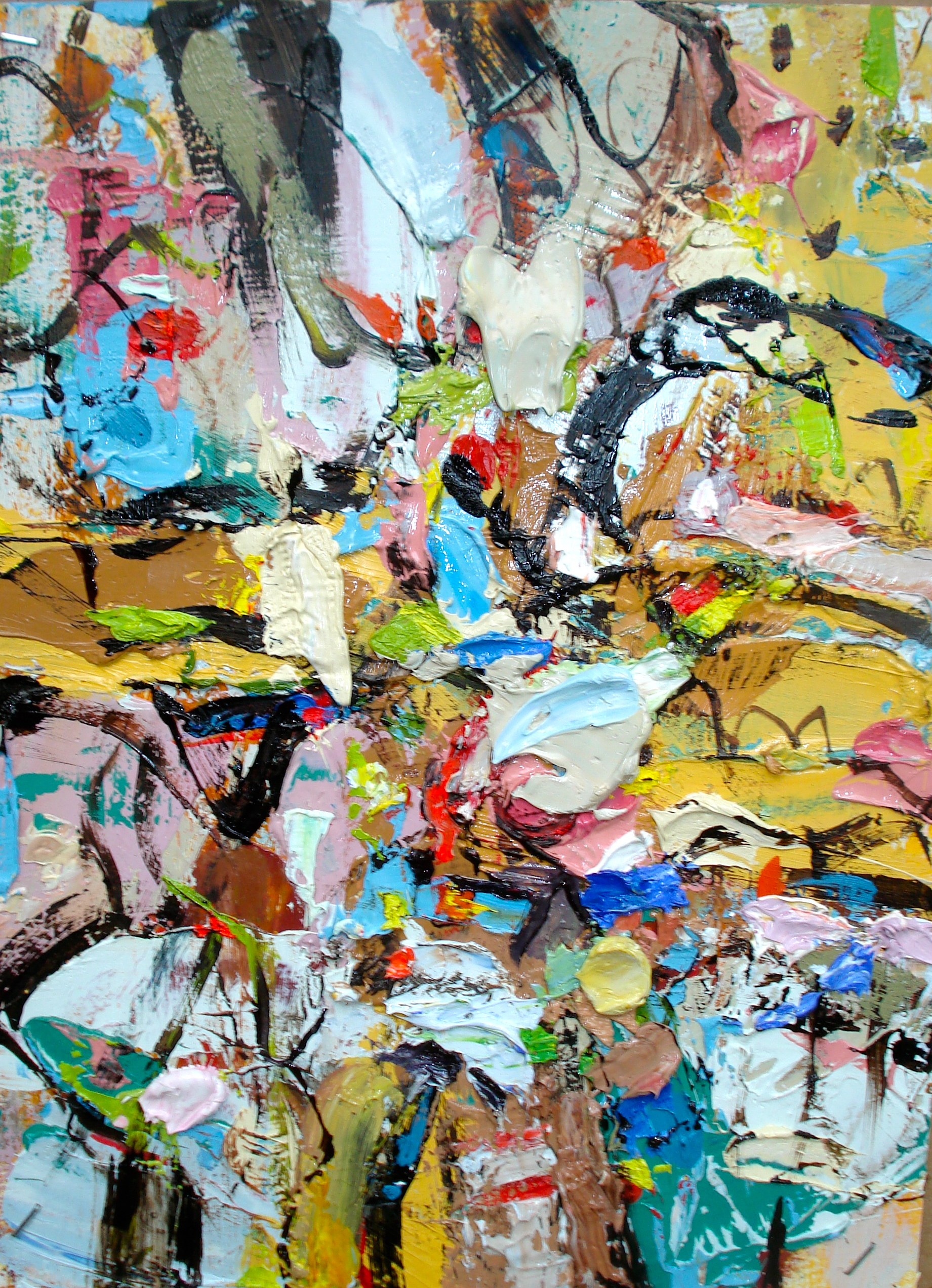 """Small Painting 26-A , oil on paper 12""""H X 9""""W (2013)"""