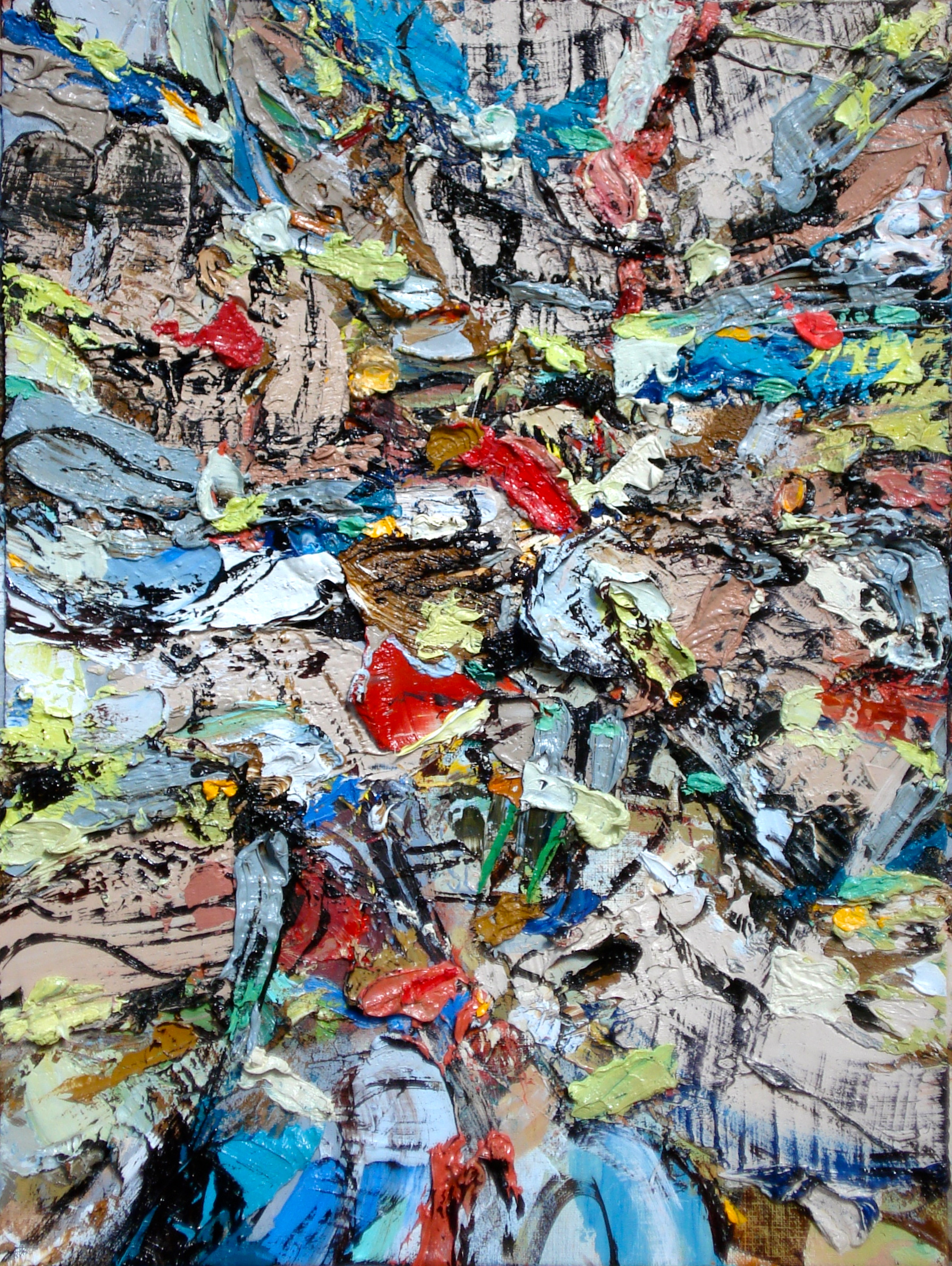 """Small Painting 32-A , oil on paper 16""""H X 12'W (2014) Private Colllection"""