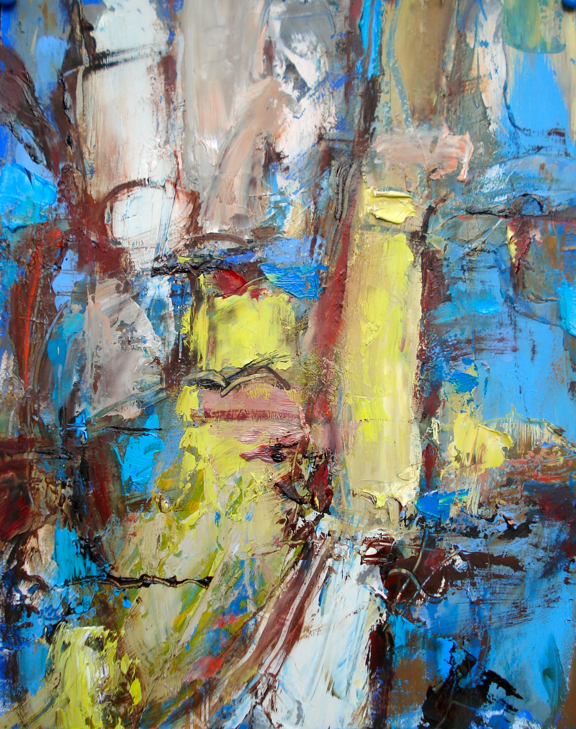 """Small Painting 2-A,  oil on paper 14""""H X 11""""W (2012)"""