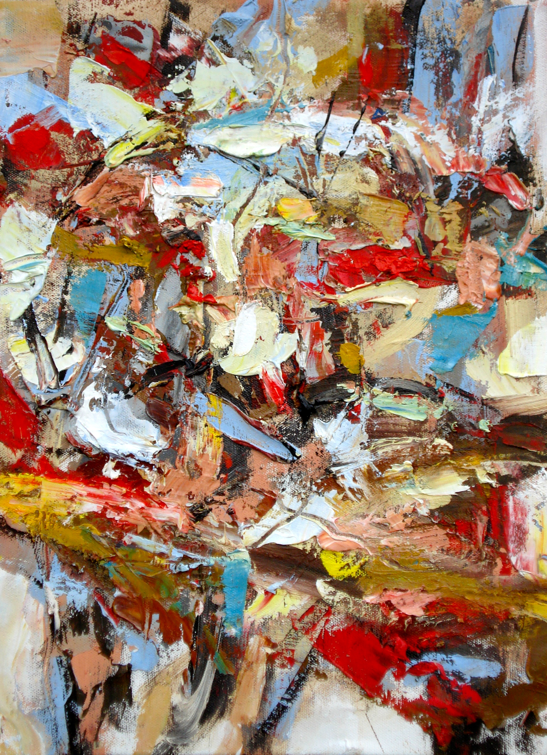 """Small Painting 16-A,  oil on paper 16""""H X 12""""W (2012) Private collection"""