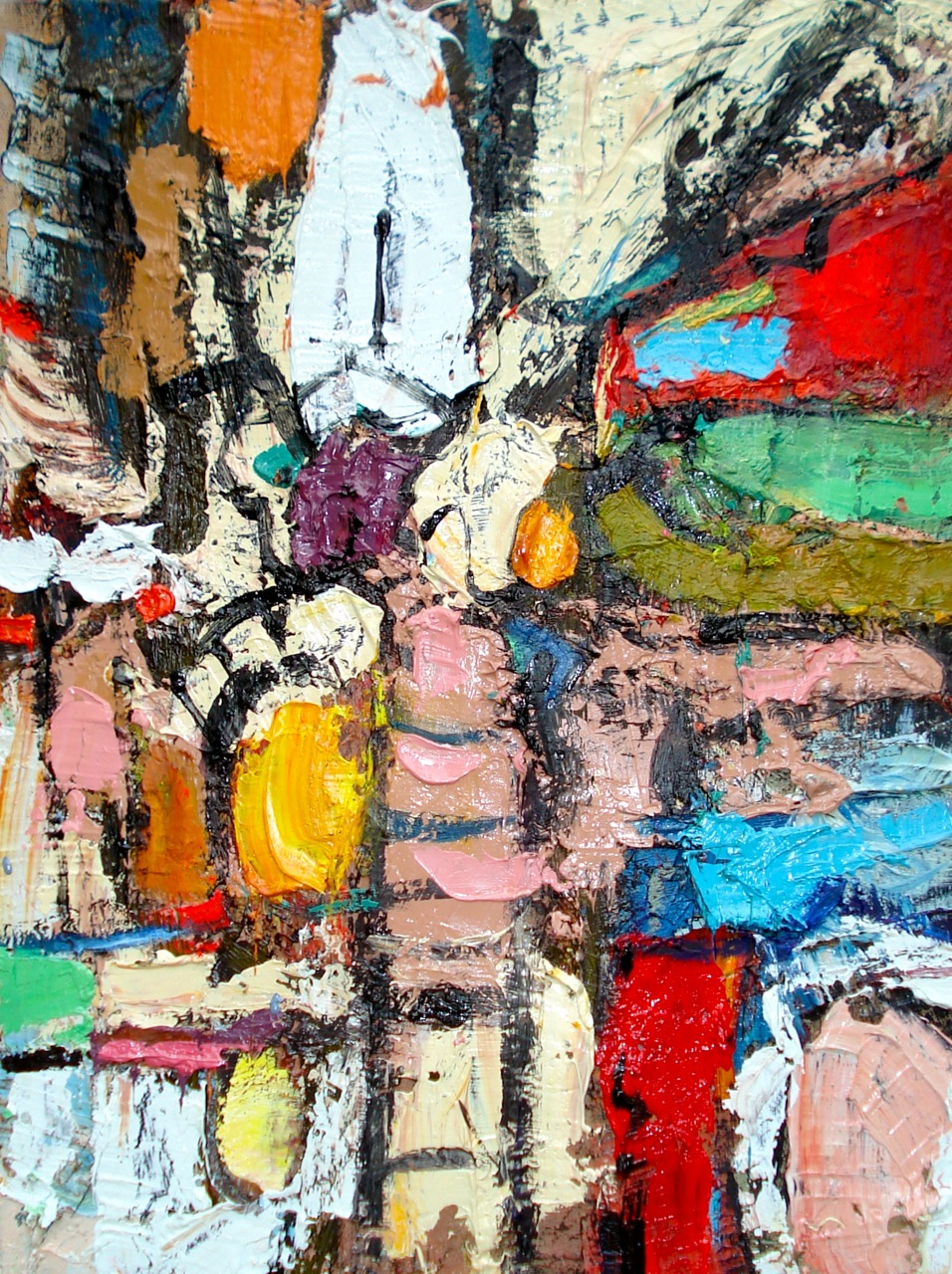 """Small Painting 17-A , oil on paper 16""""H X 12""""W (2012) PNC Bank Collection"""
