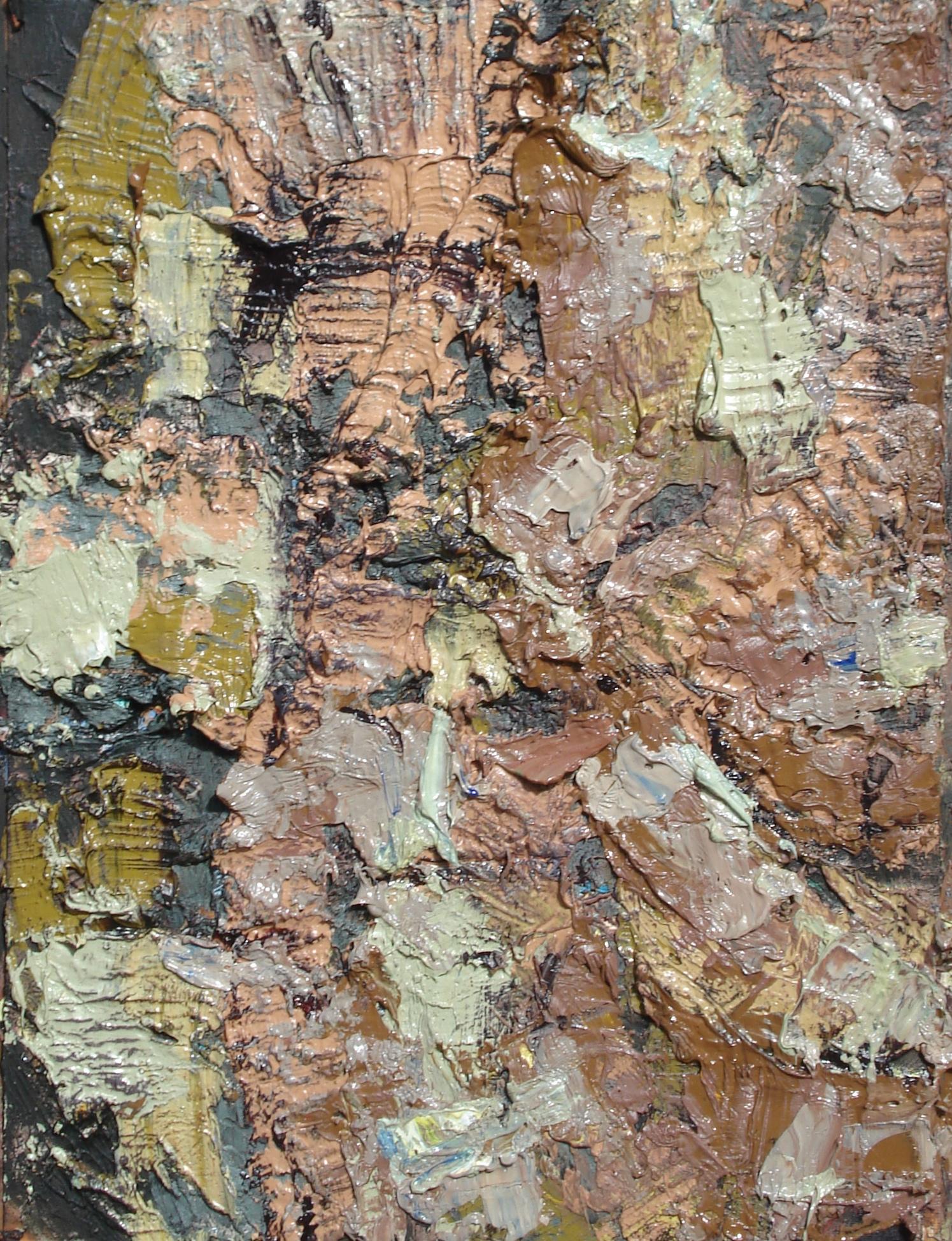"""Sediment , oil on paper 16""""H X 12""""W, 2014"""