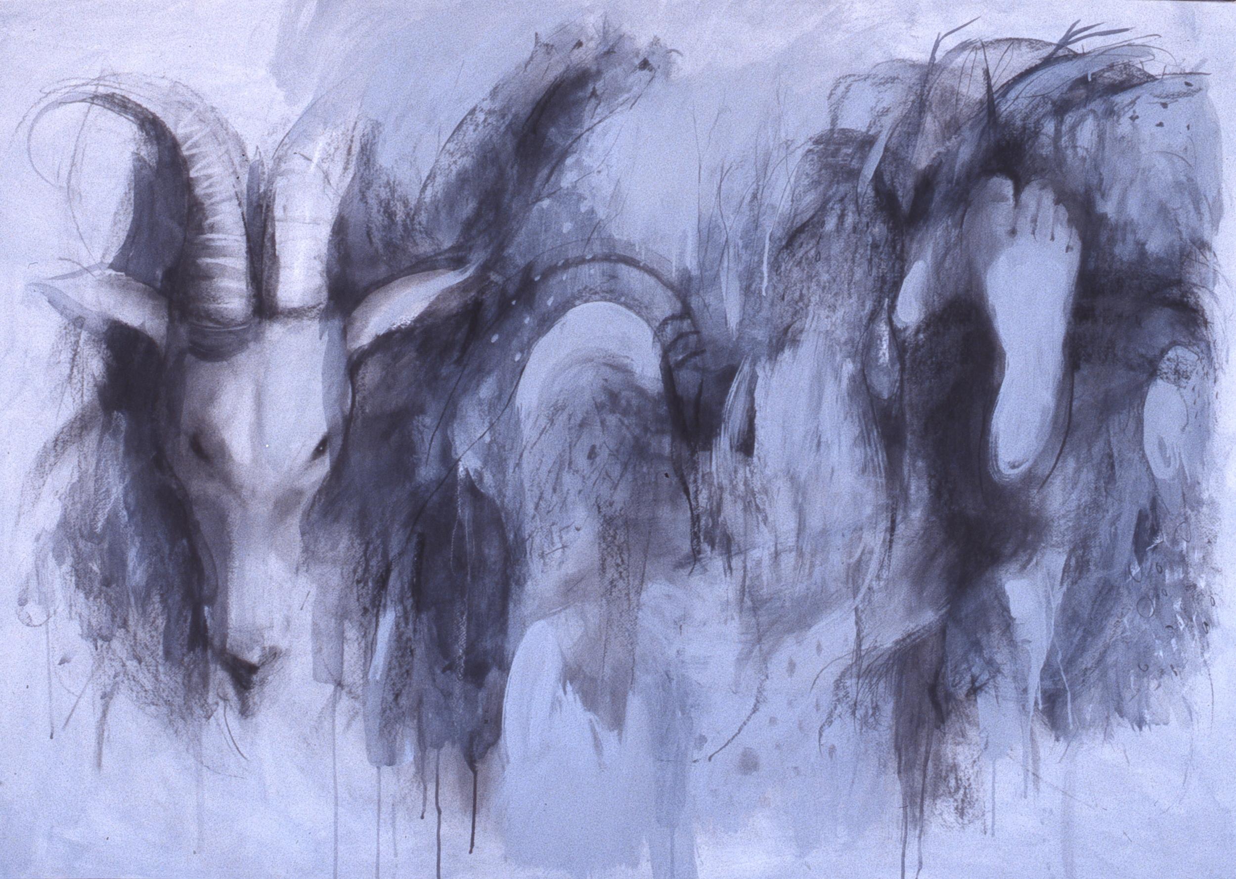 """Wild,  mixed media 49""""H X 66""""W, 2005"""