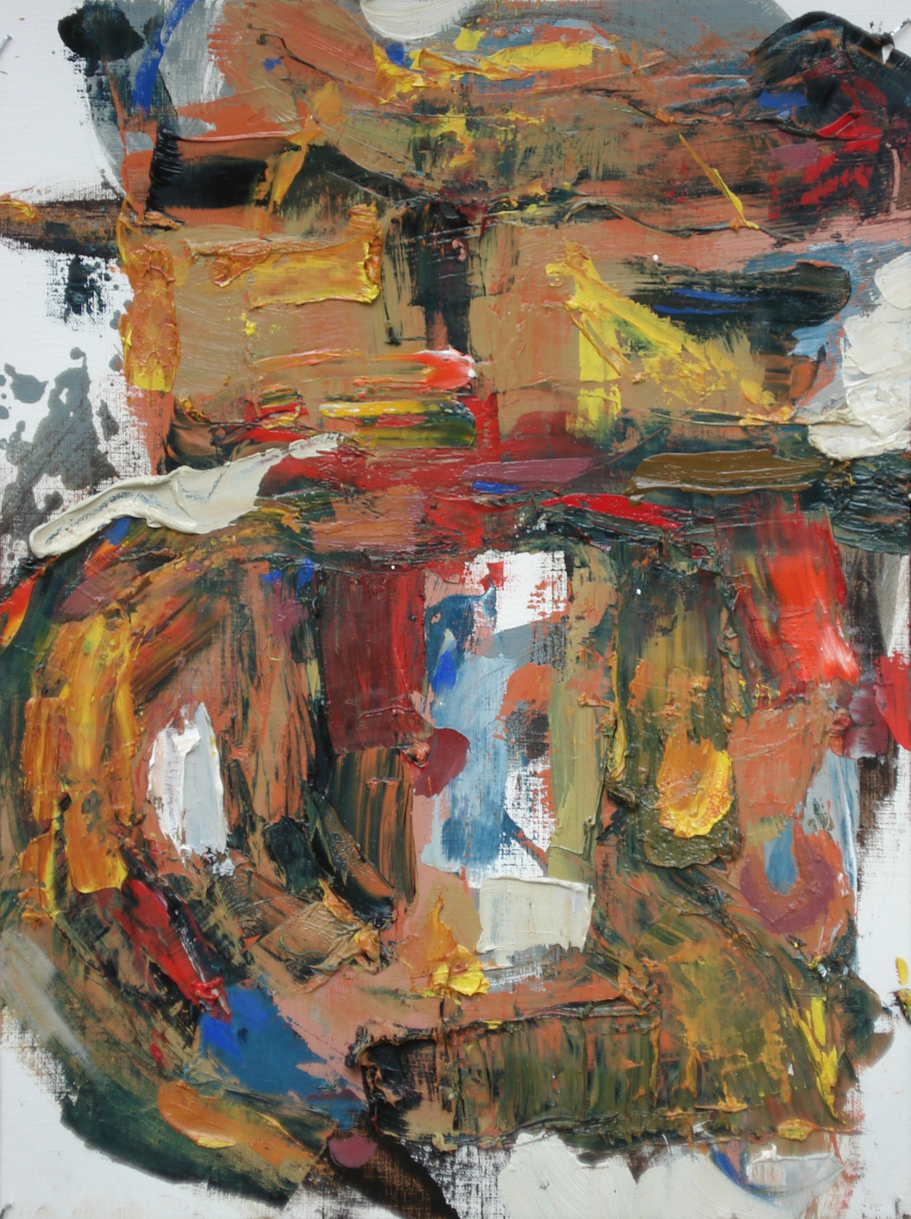 """Pittsburgh Series No. 7  oil on paper, 16""""h X 12""""W (2014) Private Collection"""