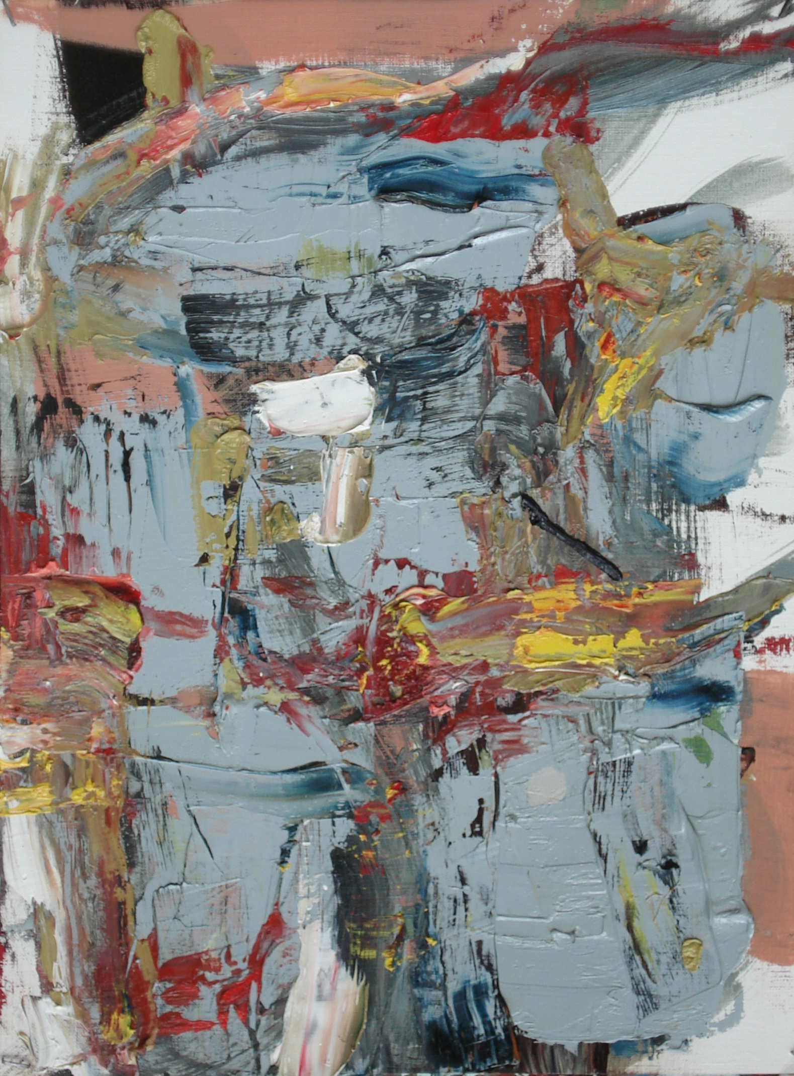 """Pittsburgh Series No. 2  oil on paper, 16""""H X 12""""W (2014)"""