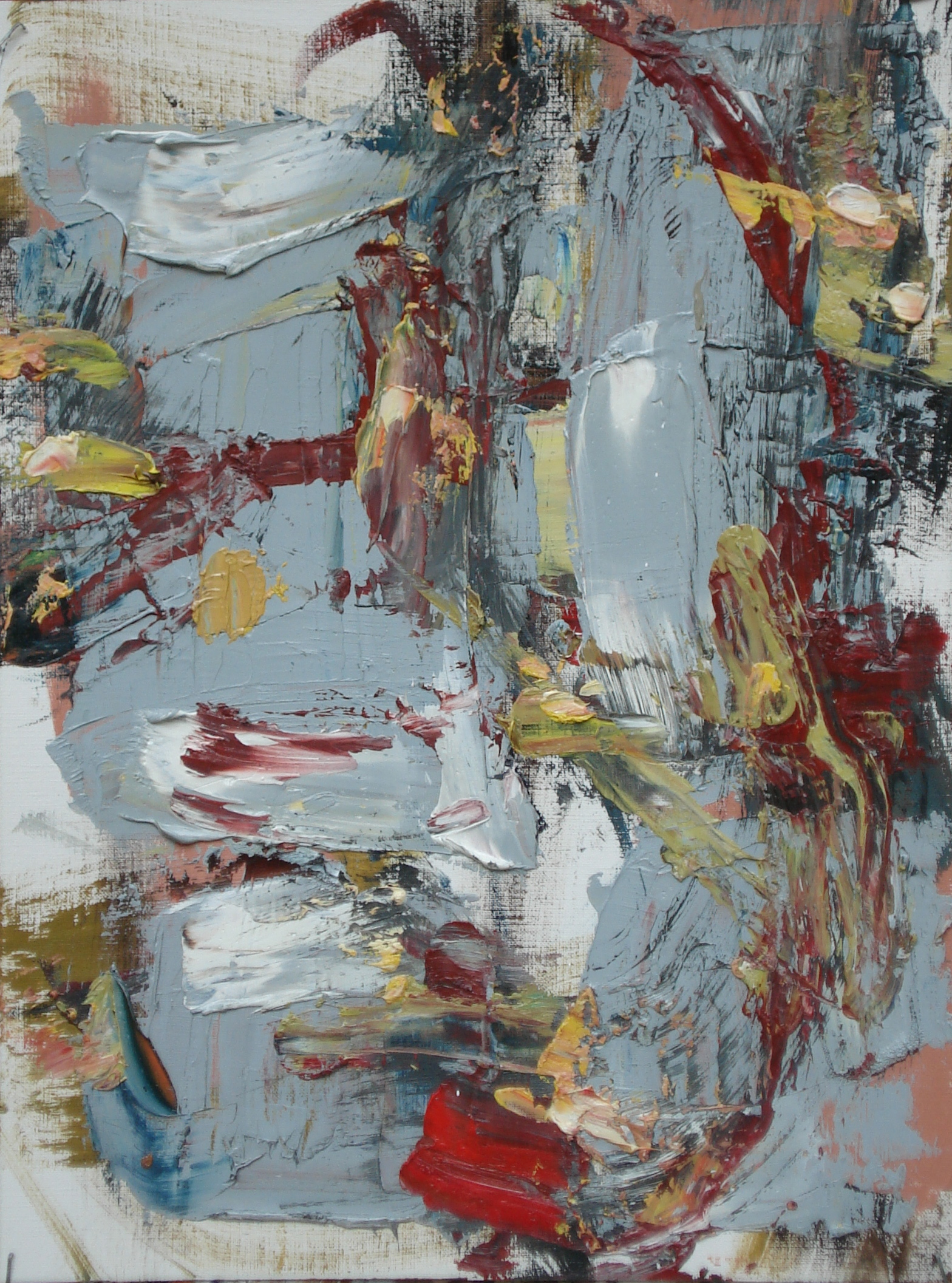"""Pittsburgh Series No. 3  oil on paper, 16""""h X 12""""W (2014)"""