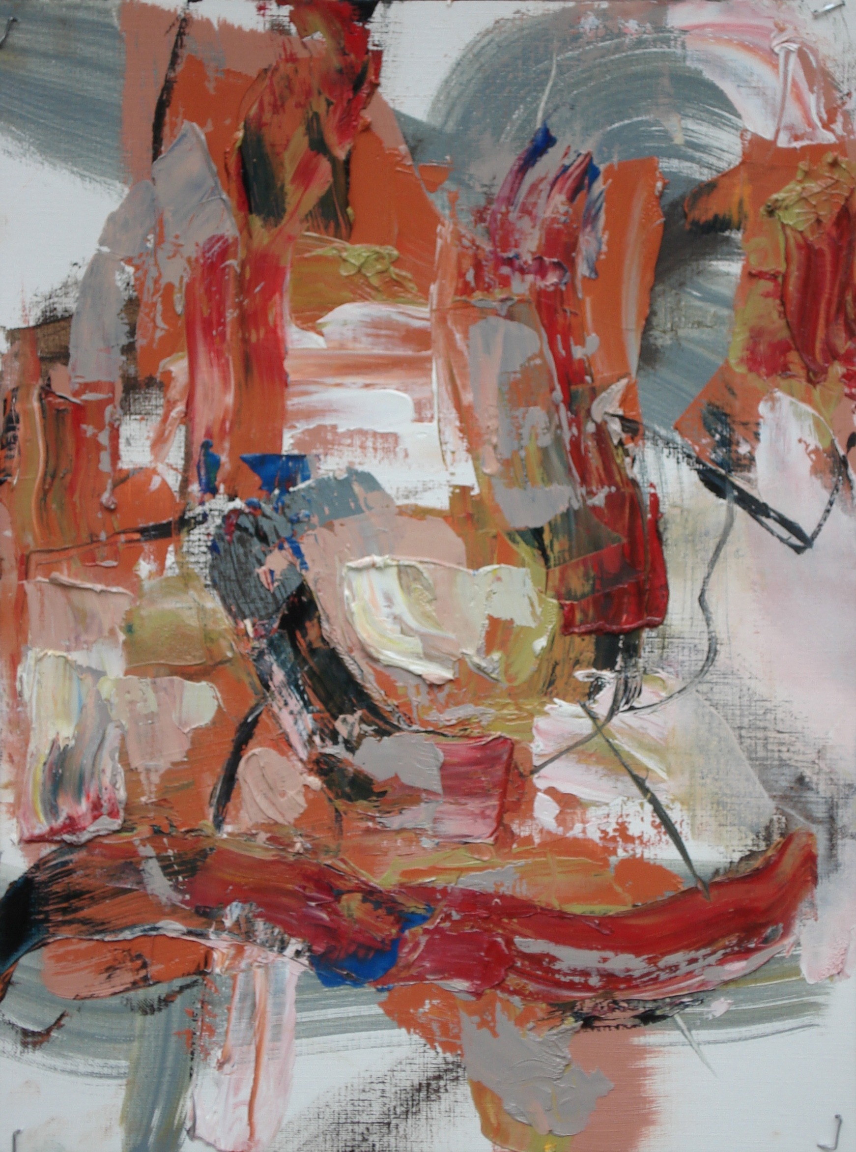 """Pittsburg Series No. 4  oil on paper, 16""""H X 12'W (2014) Private Collection"""