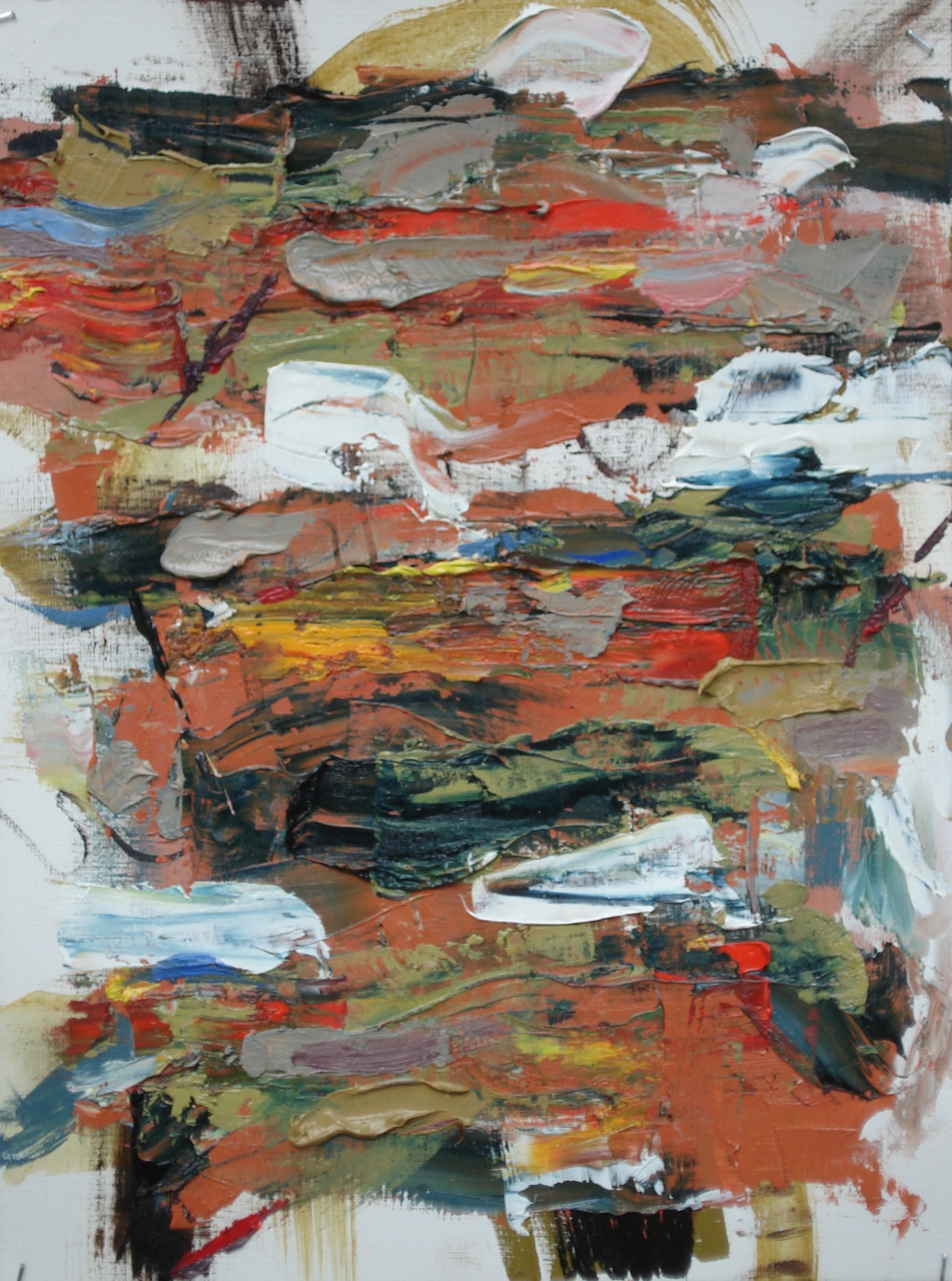 """Pittsburgh Series No. 6  oil on paper, 16""""H X 12""""W (2014) Private Collection"""