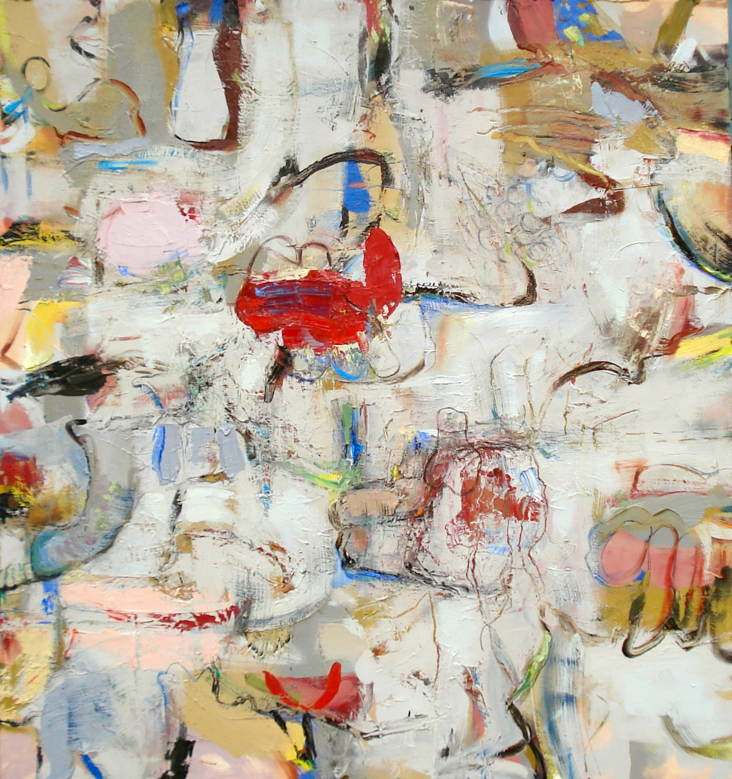 """Momentary Panic Attack  oil on canvas, 60""""H X 56""""W (2014)"""