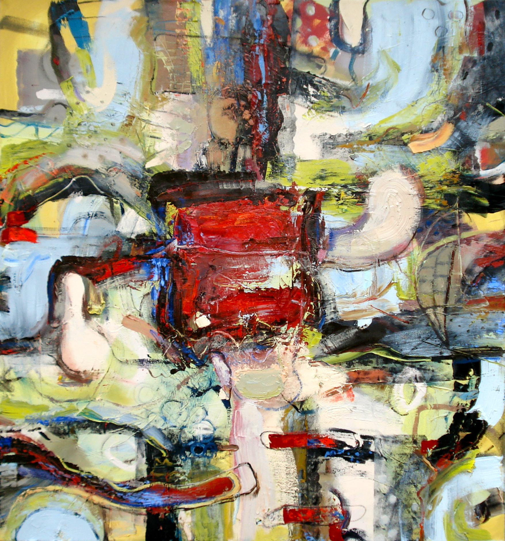 """Why Wait Any Longer for the World to Begin?  oil on canvas, 60""""H X 56""""W (2014)"""