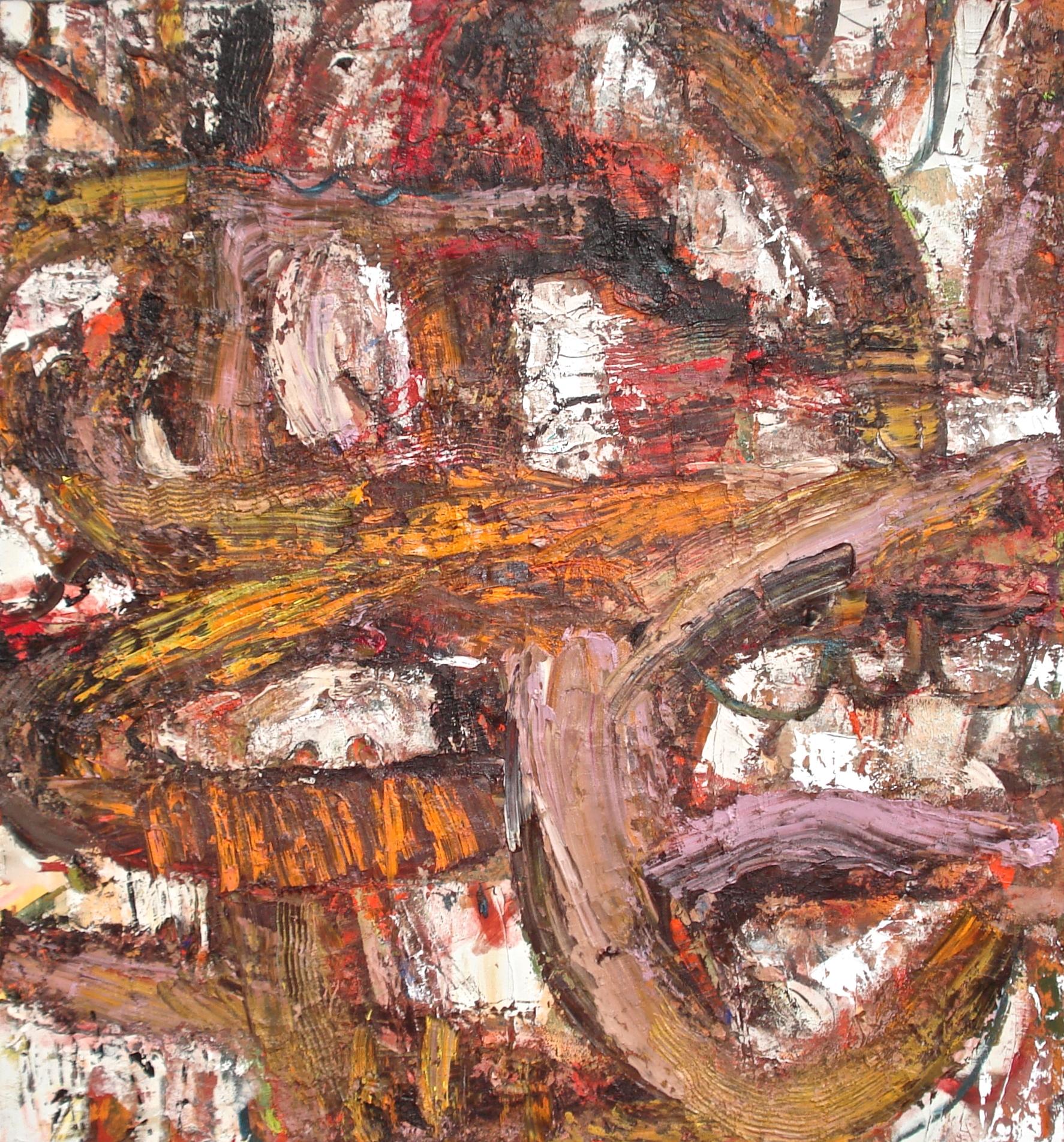 "Slip-Through,  oil on canvas 60""H X 56""W (2015)"