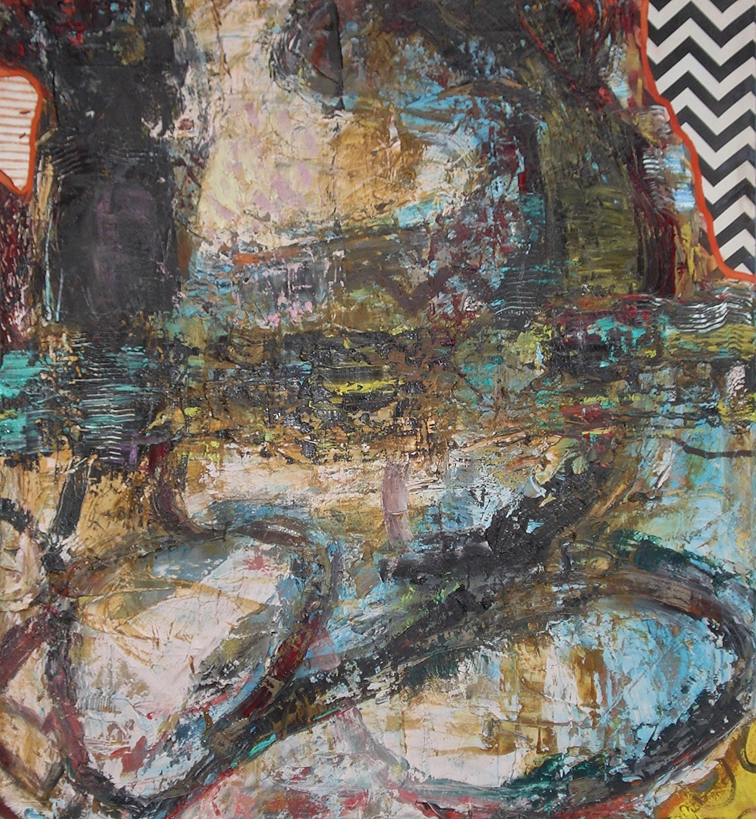 "Basic Drive,  oil on canvas 50""H X 46""W (2015)"