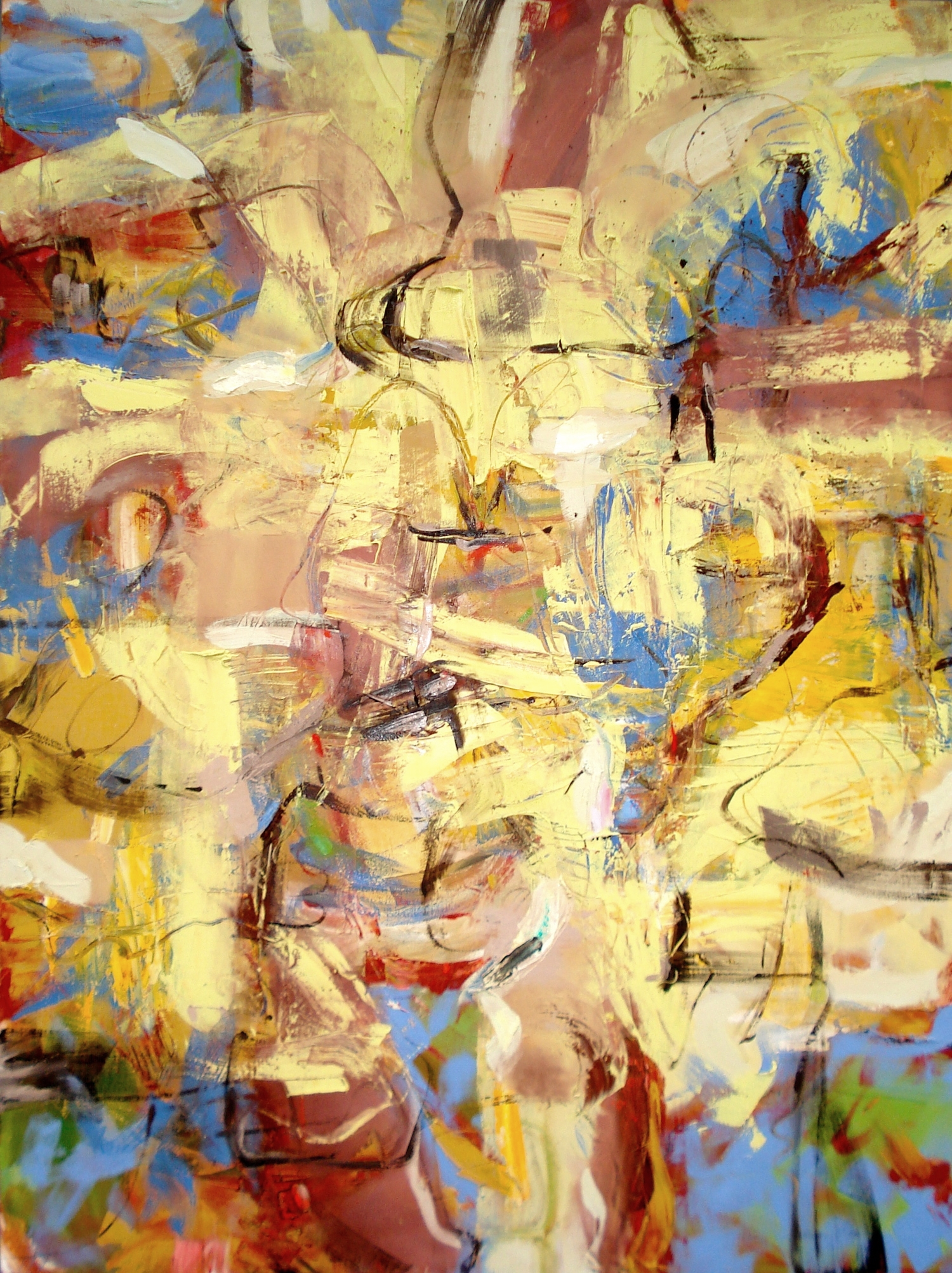 """Busy Day , oil on canvas 48""""W X 64""""H (2013)"""