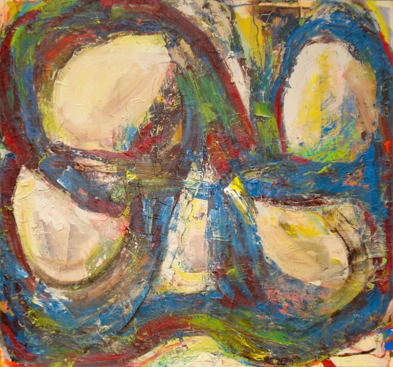 """Rhythm and Blue,  oil on canvas 56""""H X 60""""W (2014)"""
