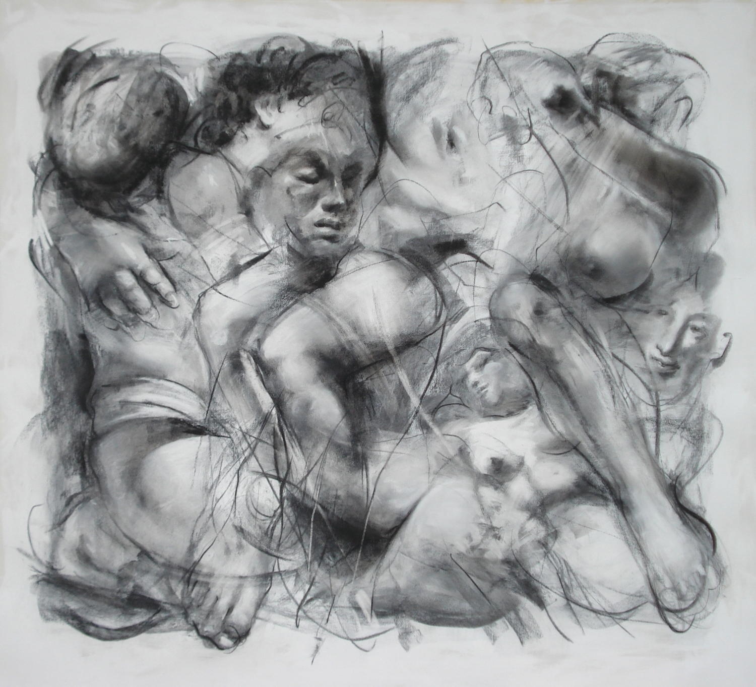 """Passion , charcoal 54""""H X 56 1/2""""W, 2012"""