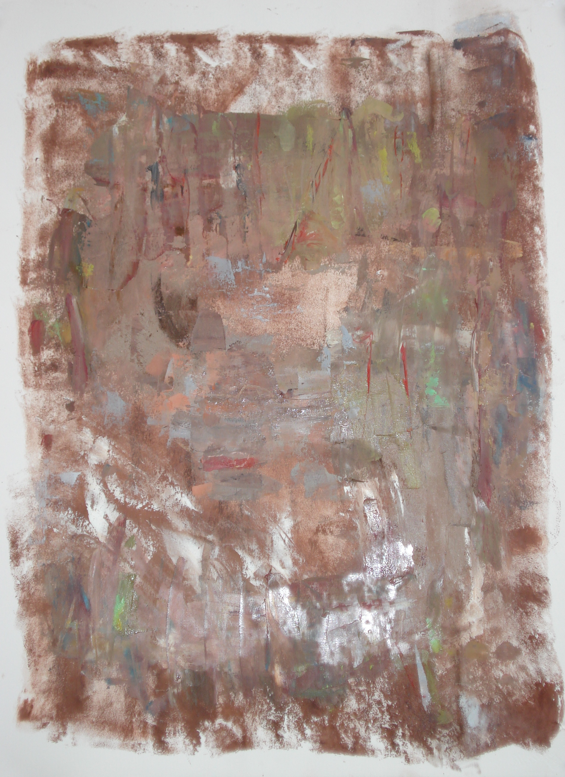 """Song Time  oil on paper, 30""""H X 22""""W (2015)"""