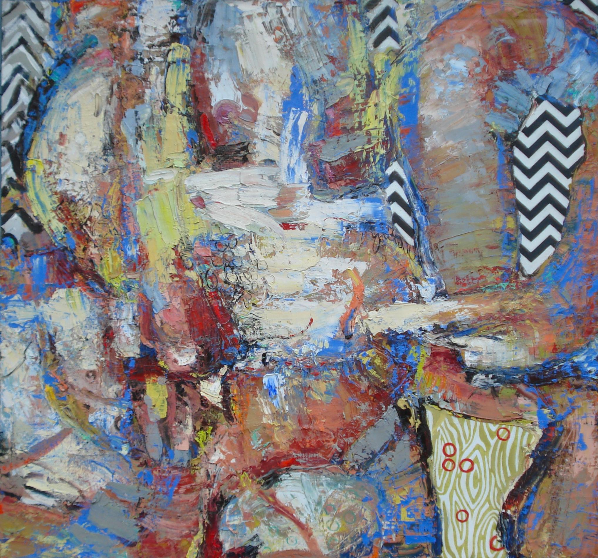 "La Baie,   (The Bay, After Bonnard)  oil on canvas, 56""H X 60""W (2015)"