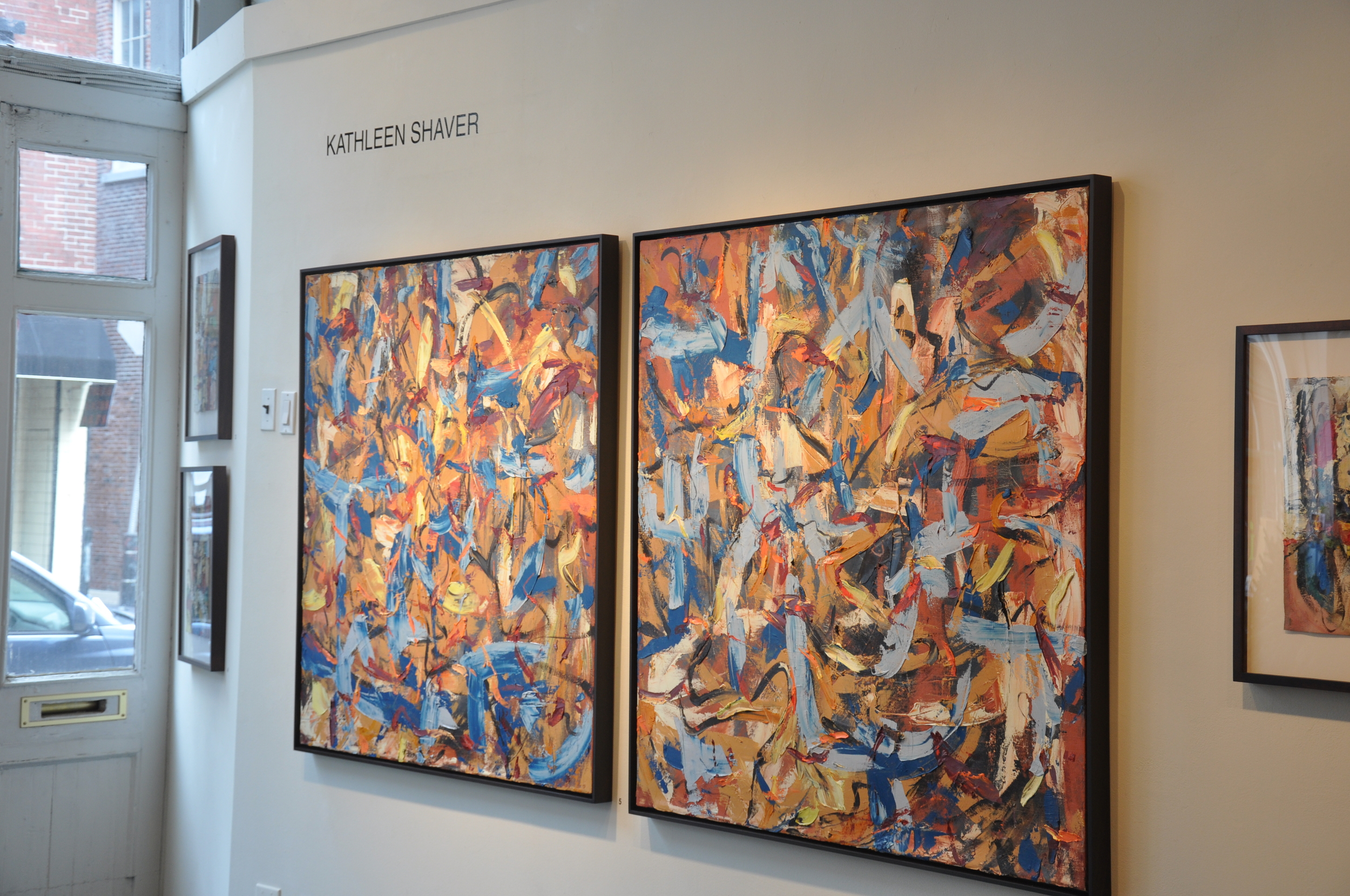 Data I and Data II, exhibited as a diptych at 3rd Street Gallery
