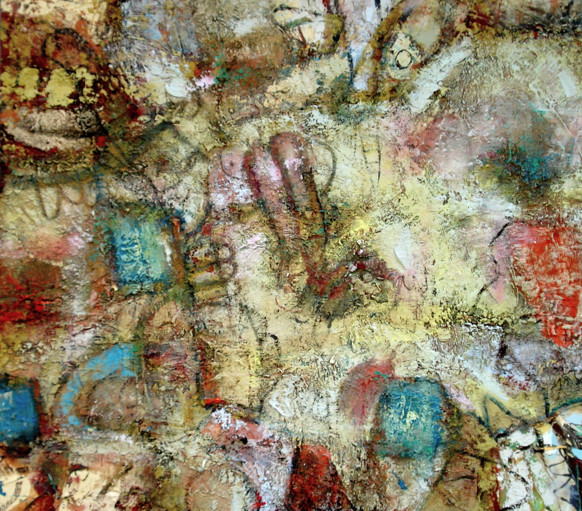 "Night Crawlers , oil on canvas 48""H X 54""W (2014)"