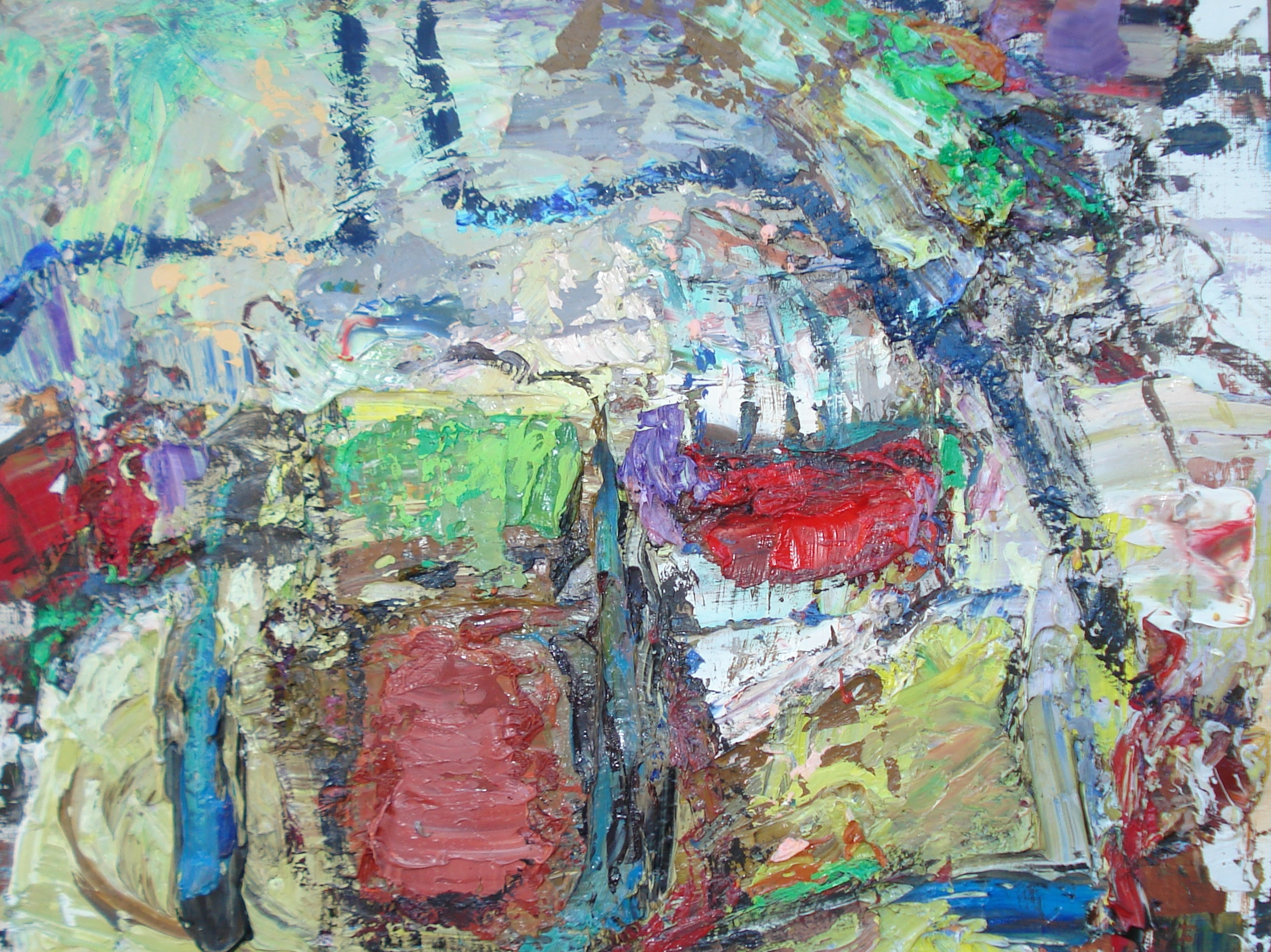 """Small Painting 37A   oil on paper, 12""""H X 16""""W (2015)"""