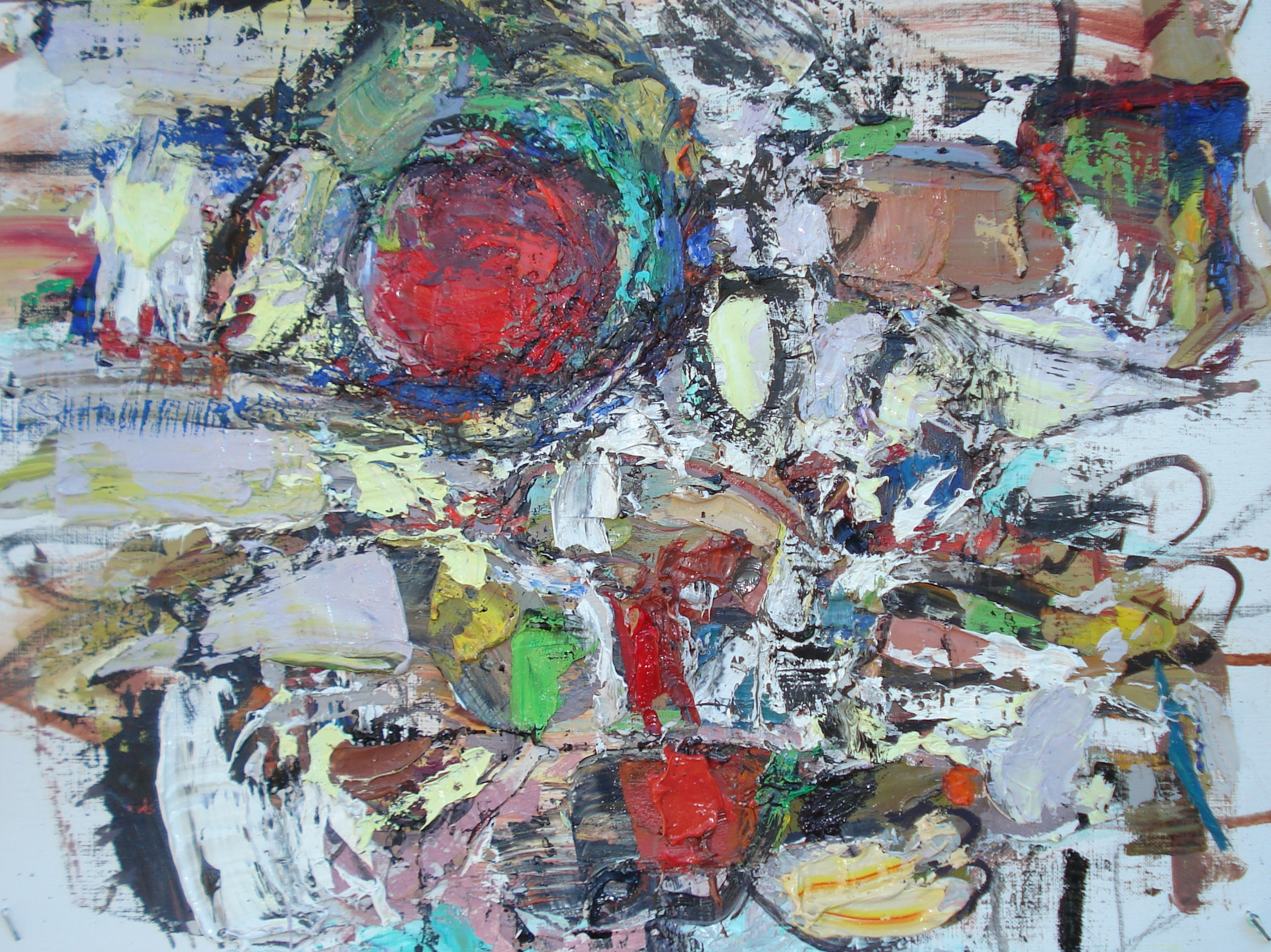 """Small Painting 38A  oil on paper, 12""""H X 16""""W (2015)"""