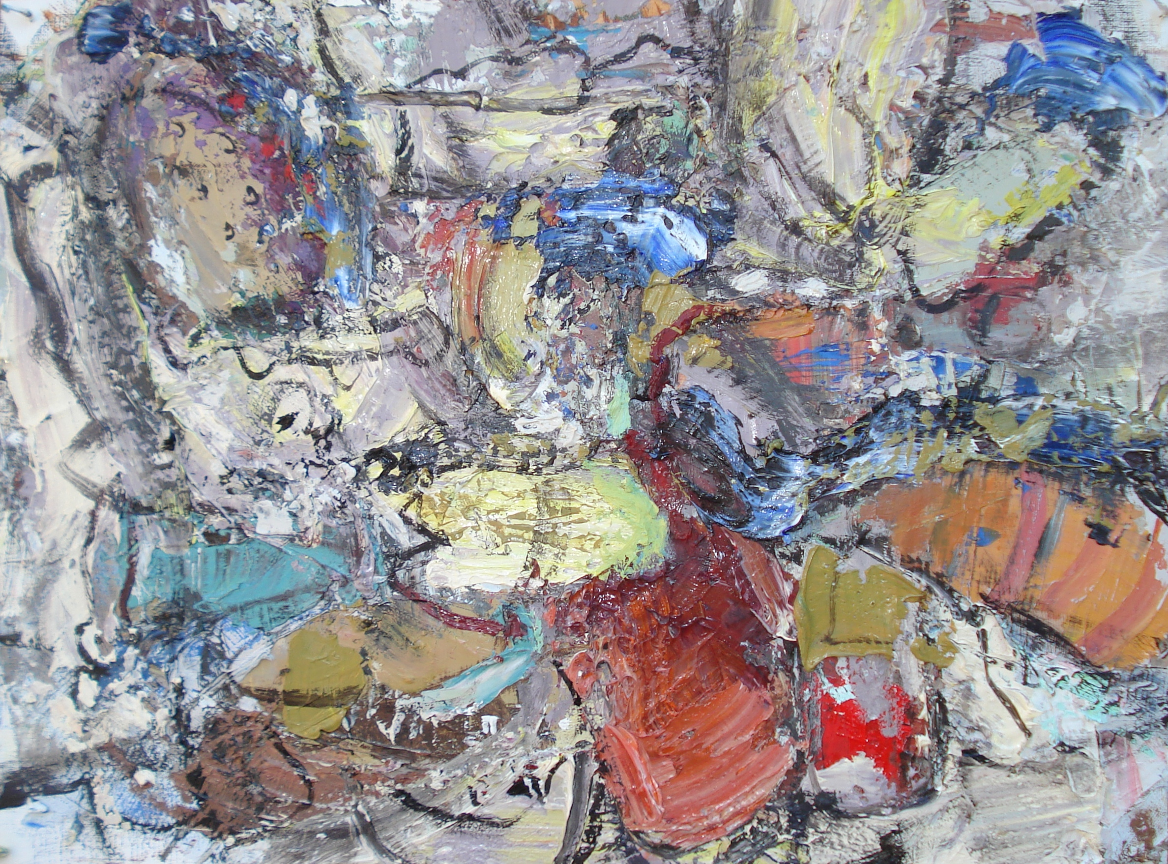 """Small Painting 40A  oil on paper, 12""""H X 16""""W (2015)"""